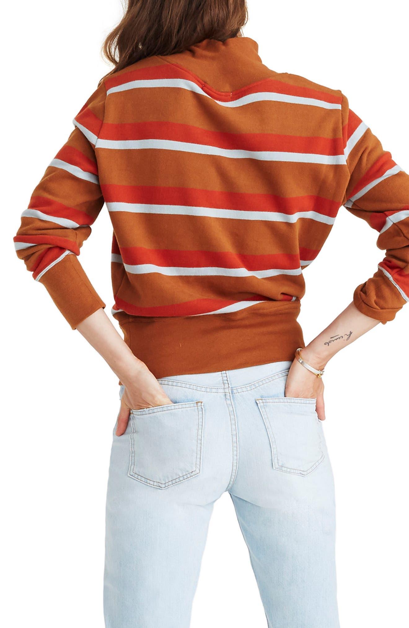 Stripe Turtleneck Sweatshirt,                             Alternate thumbnail 2, color,                             201