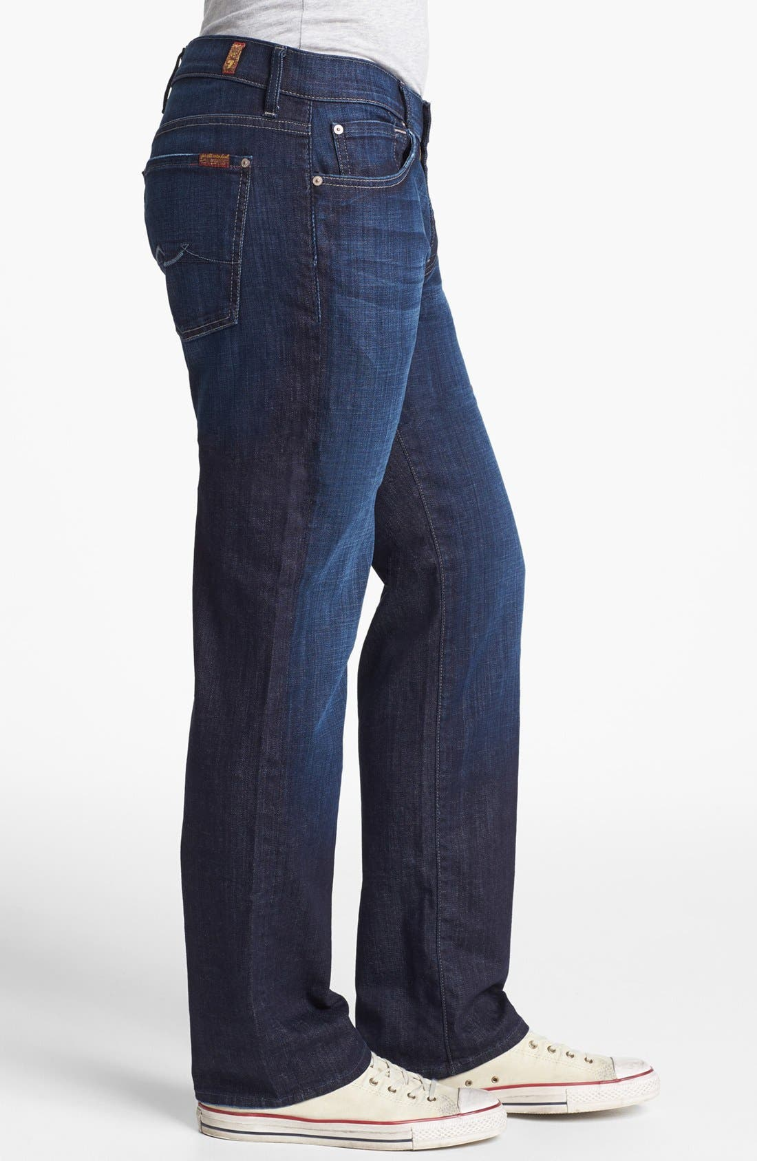 7 FOR ALL MANKIND<SUP>®</SUP>,                             Austyn Relaxed Straight Leg Jeans,                             Alternate thumbnail 4, color,                             LOS ANGELES DARK