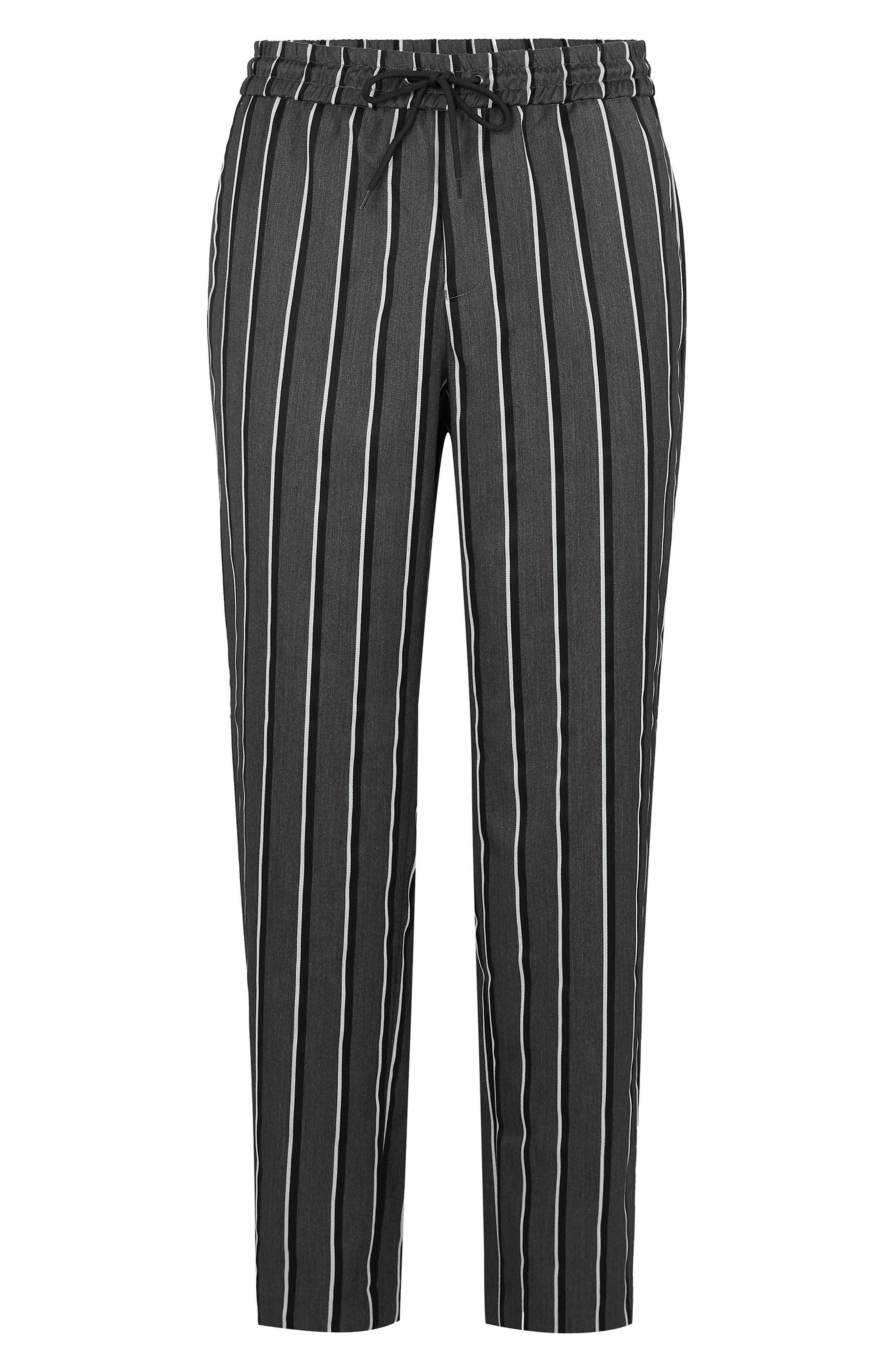 Stripe Wide Leg Joggers,                             Alternate thumbnail 4, color,                             GREY MULTI