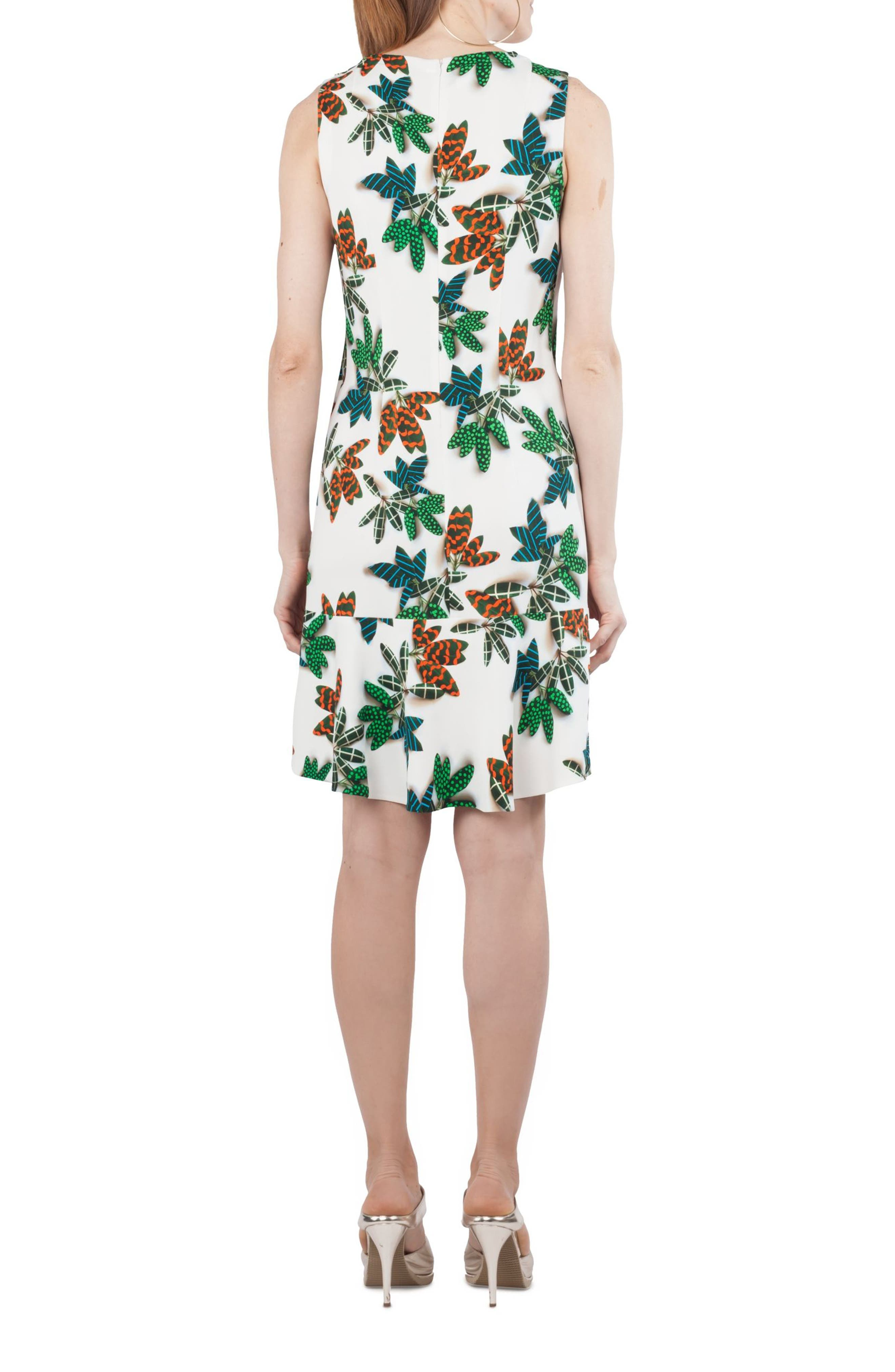 Tropical Print Shift Dress,                             Alternate thumbnail 2, color,                             115