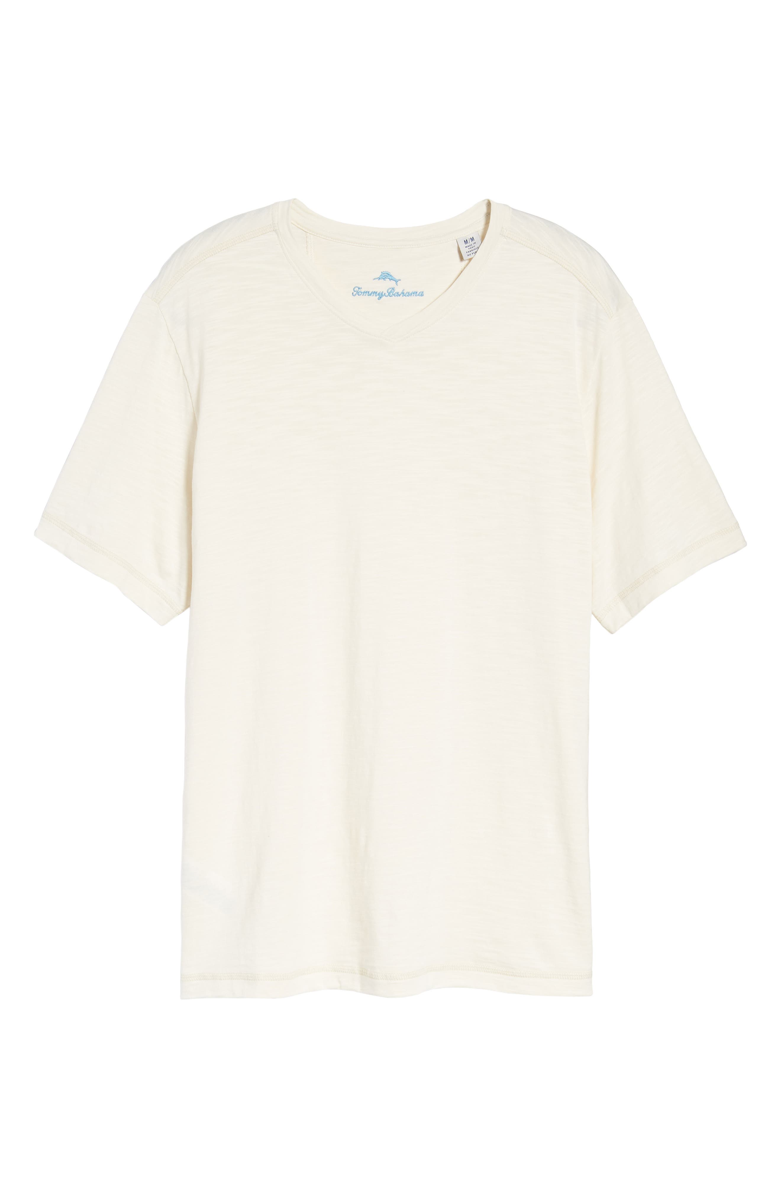 Portside Palms V-Neck T-Shirt,                             Alternate thumbnail 48, color,