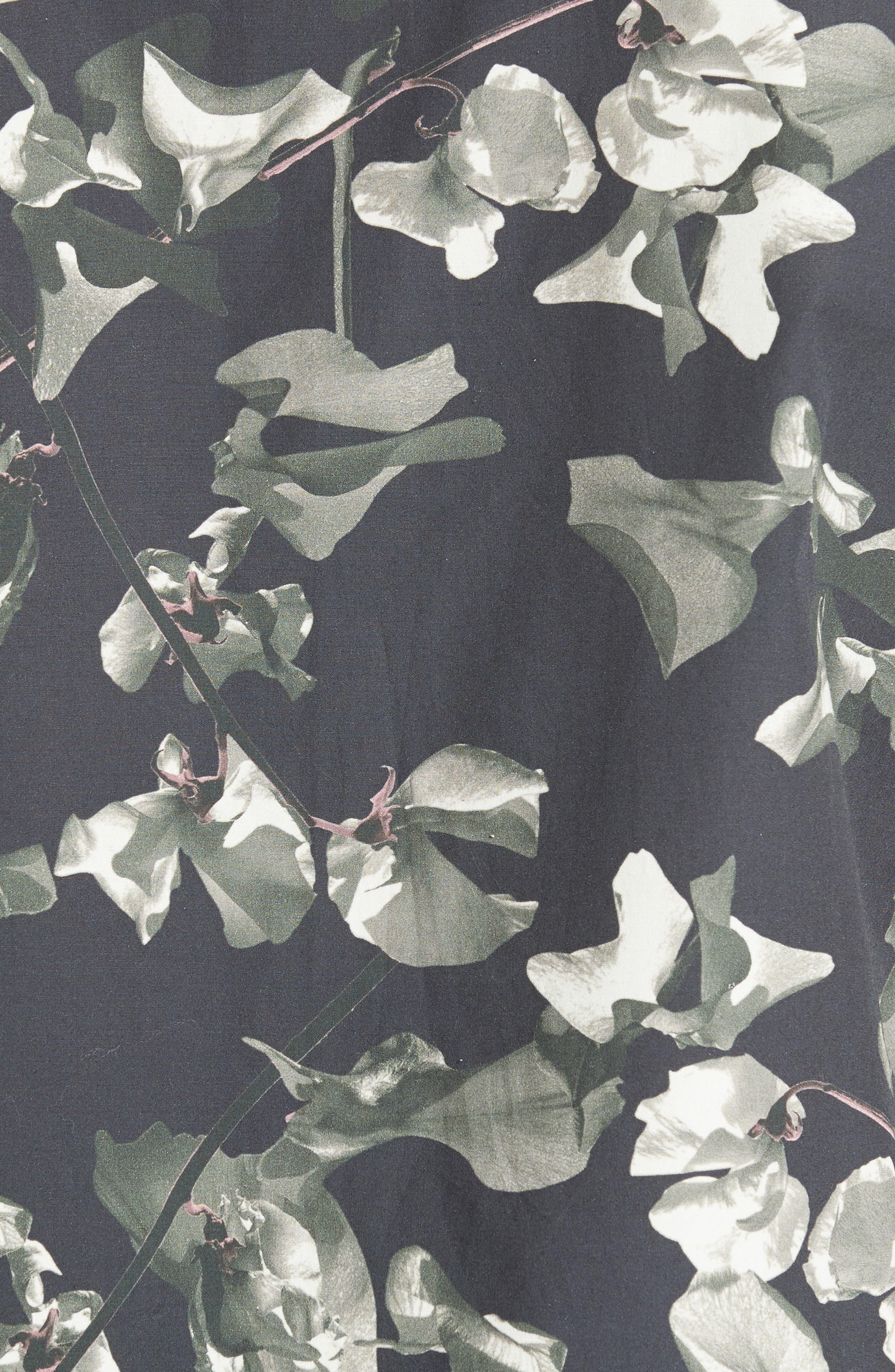 Esquina Petals Print Trim Fit Sport Shirt,                             Alternate thumbnail 5, color,                             020