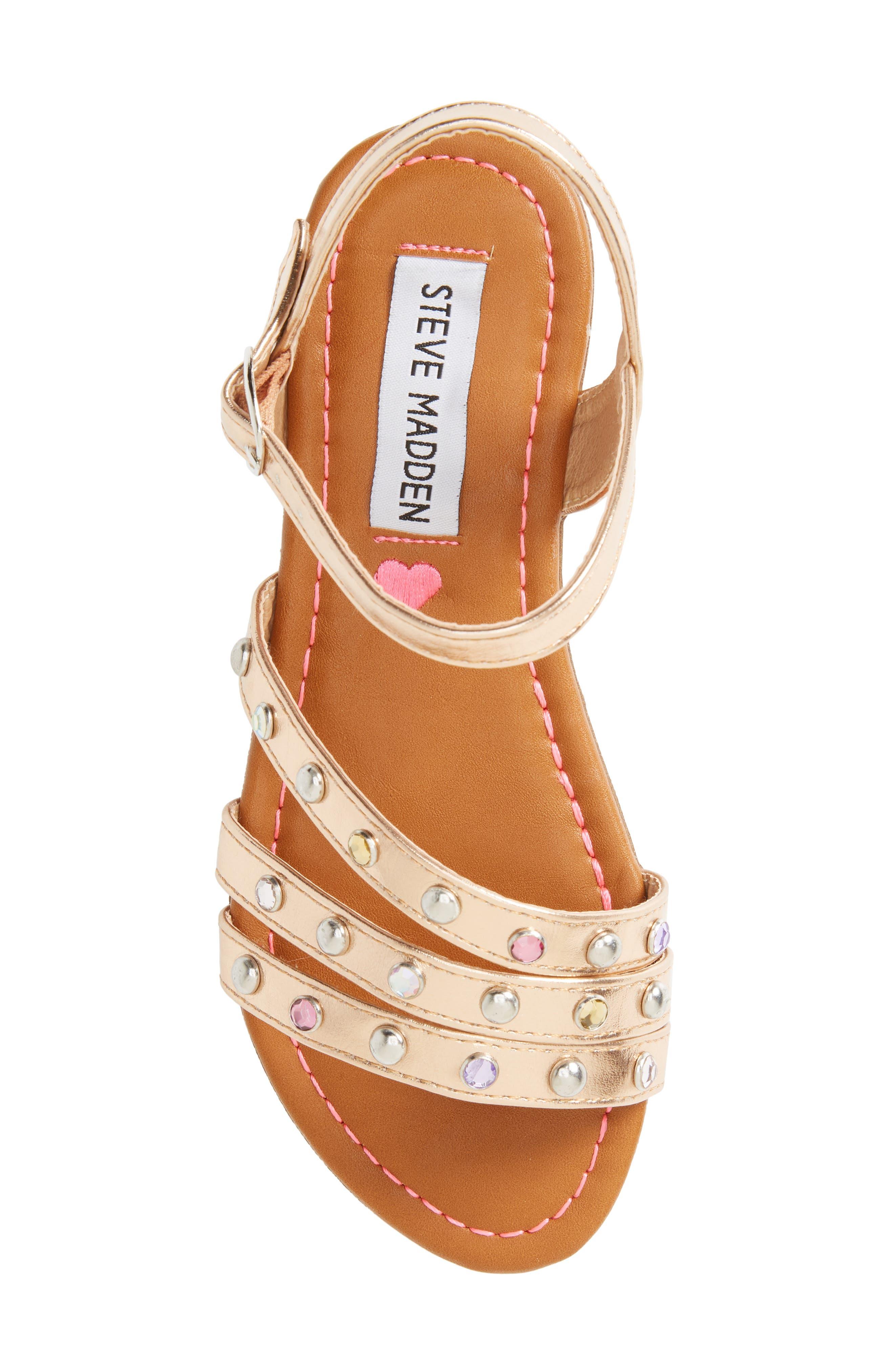 JSUNSET Crystal Embellished Sandal,                             Alternate thumbnail 5, color,                             712