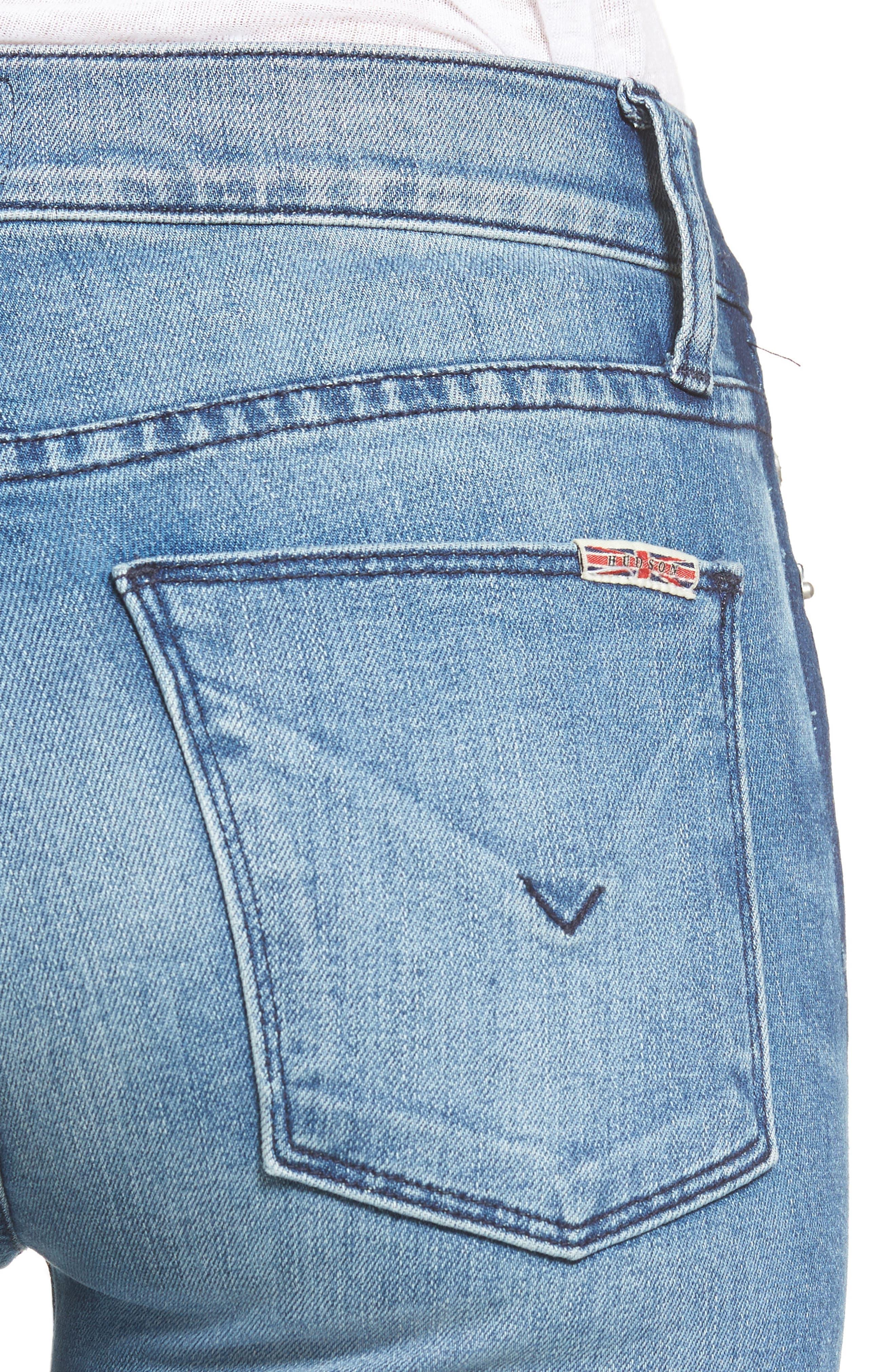 Tilda Crop Straight Leg Jeans,                             Alternate thumbnail 4, color,                             425
