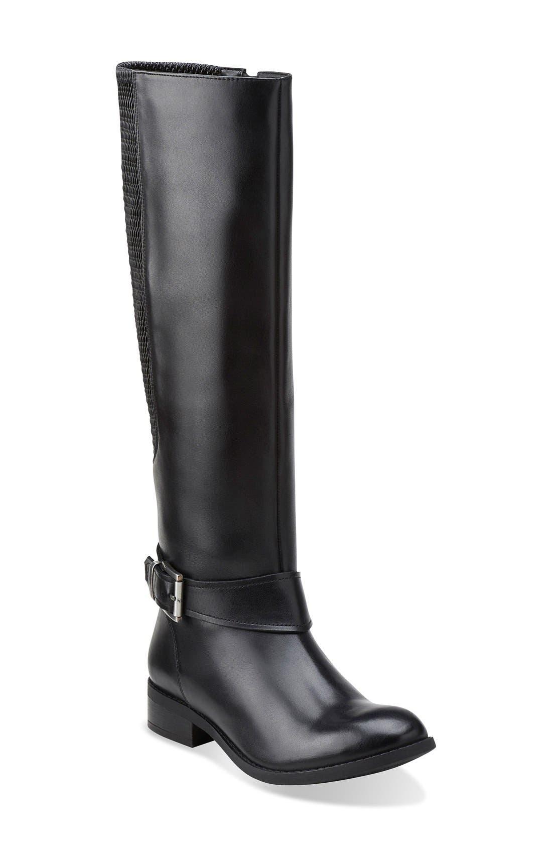 CLARKS<SUP>®</SUP>,                             'Pita Dakota' Tall Boot,                             Main thumbnail 1, color,                             003