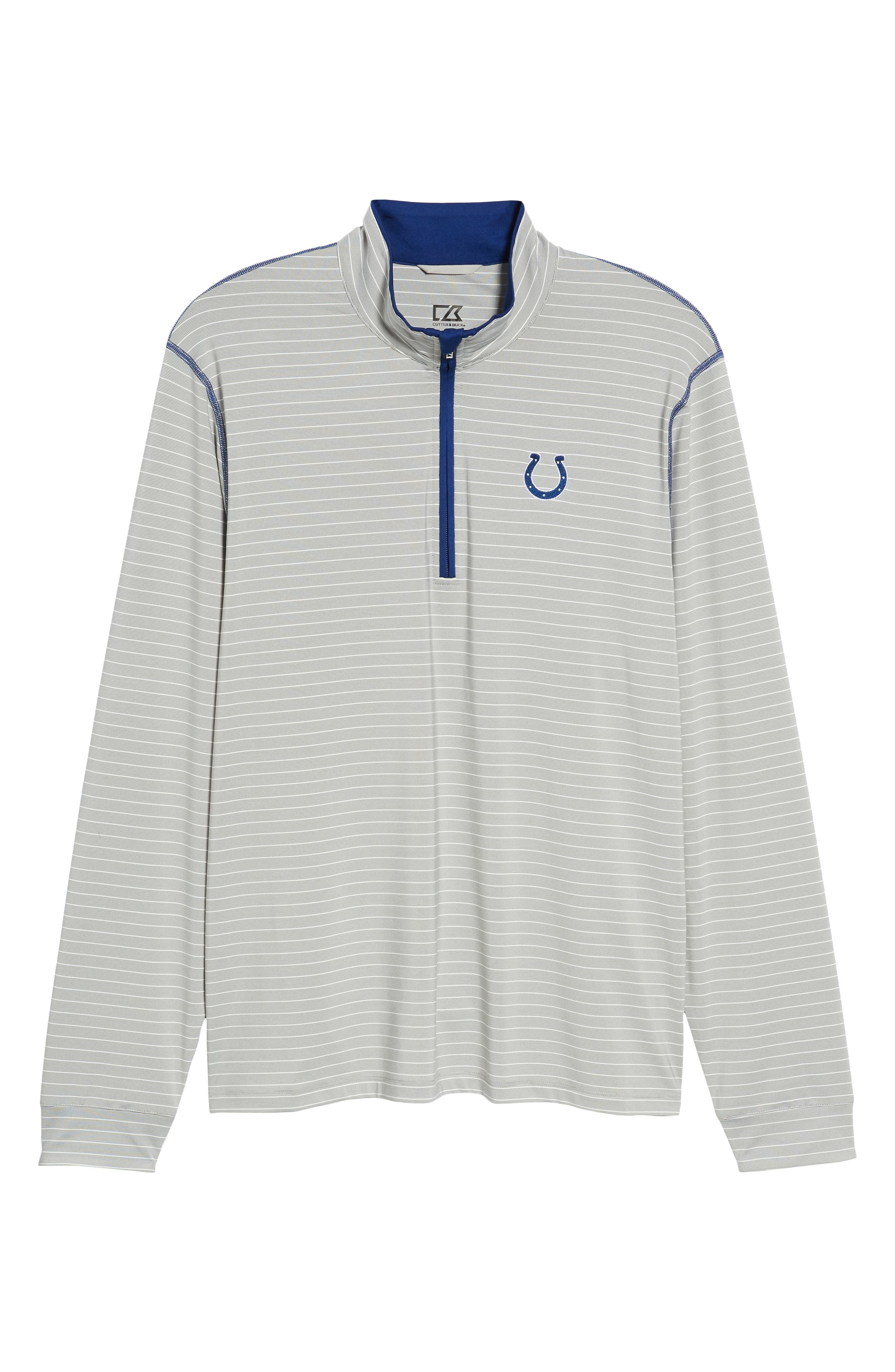 Meridian - Indianapolis Colts Regular Fit Half Zip Pullover,                             Alternate thumbnail 6, color,                             TOUR BLUE