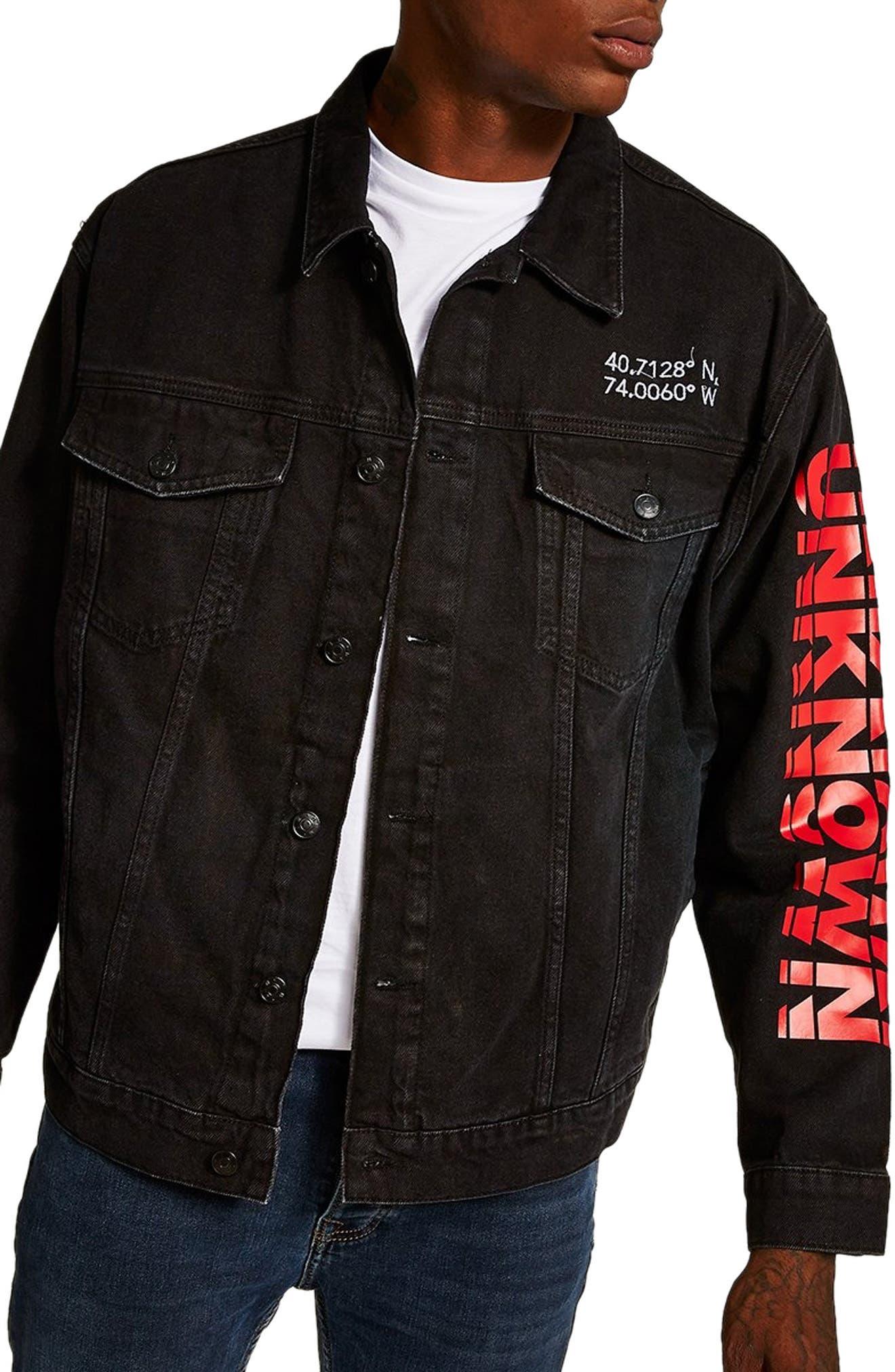 Unknown Destination Oversize Denim Jacket,                         Main,                         color, 001