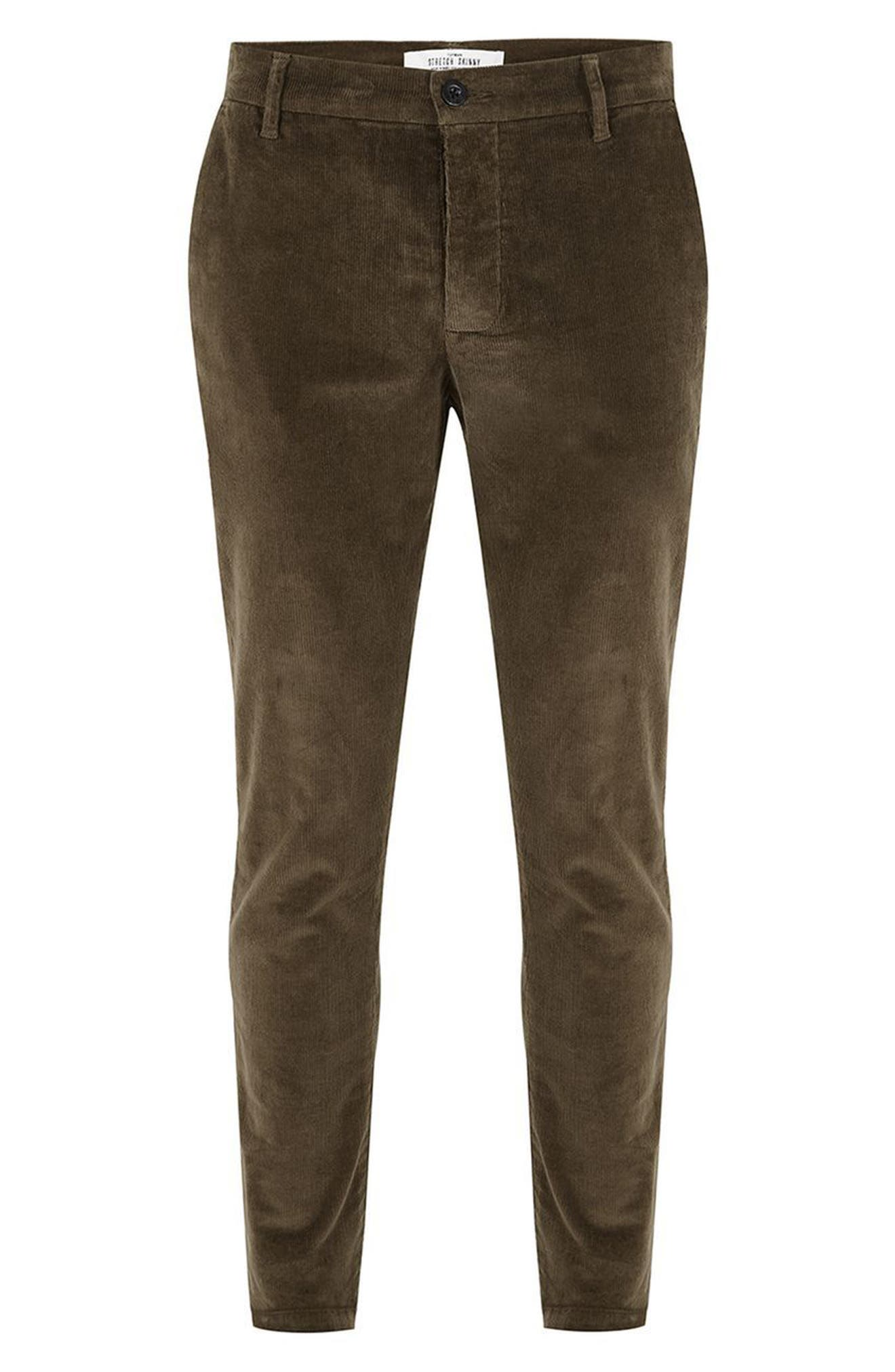 Skinny Fit Corduroy Trousers,                             Alternate thumbnail 7, color,