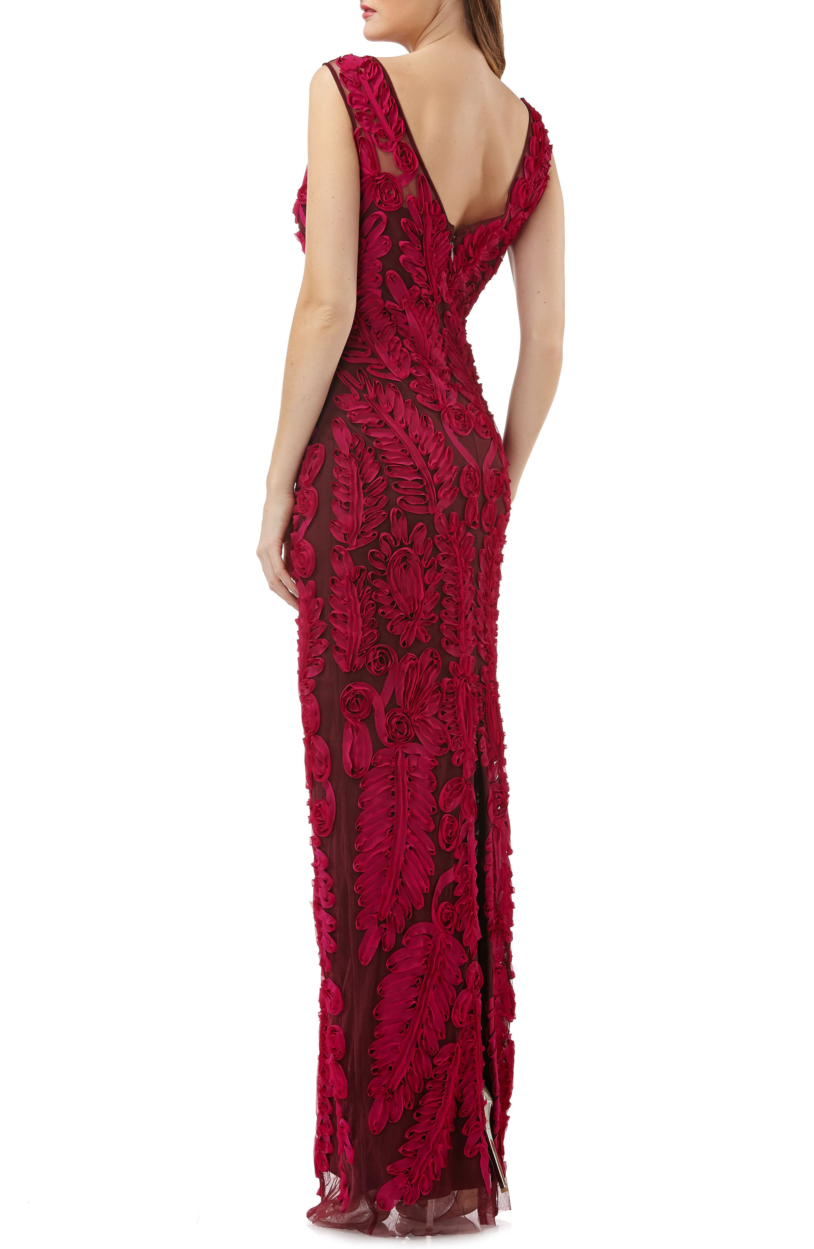 Mesh Column Gown,                             Alternate thumbnail 2, color,                             651