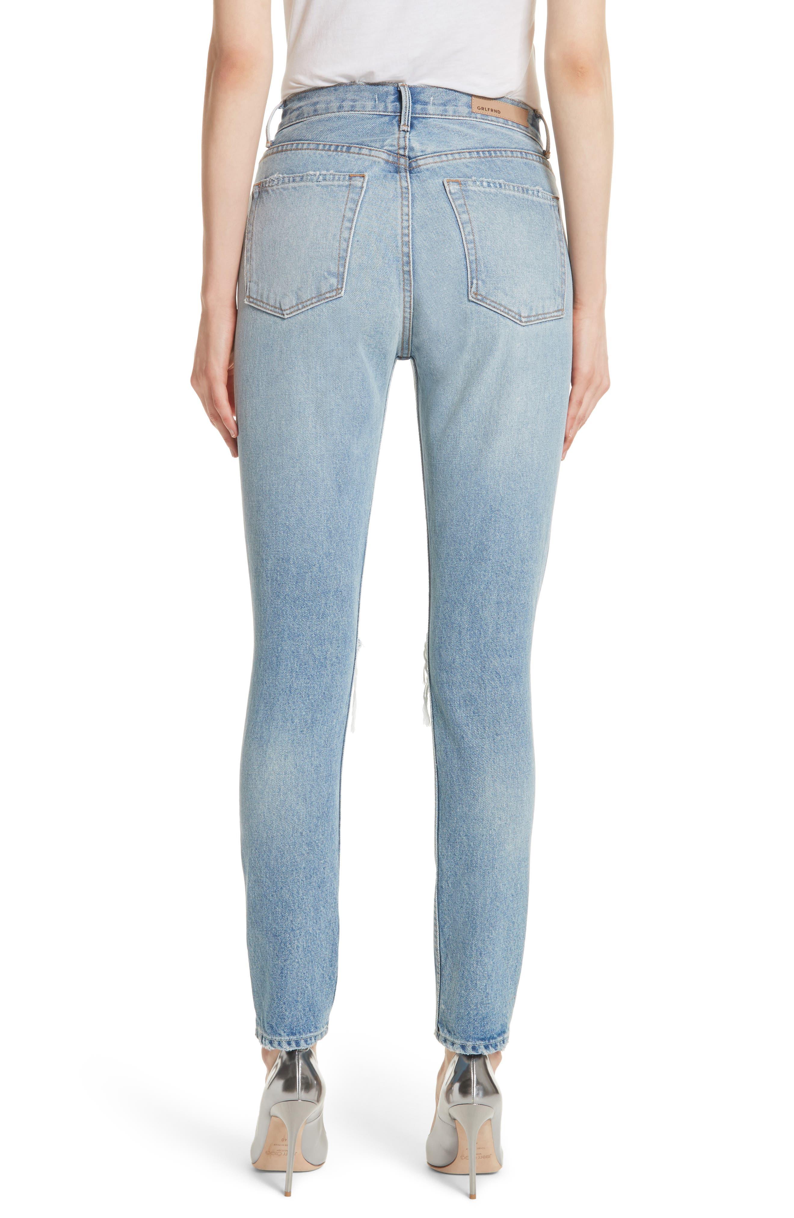 Karolina Ripped Skinny Jeans,                             Alternate thumbnail 2, color,                             TREASURE