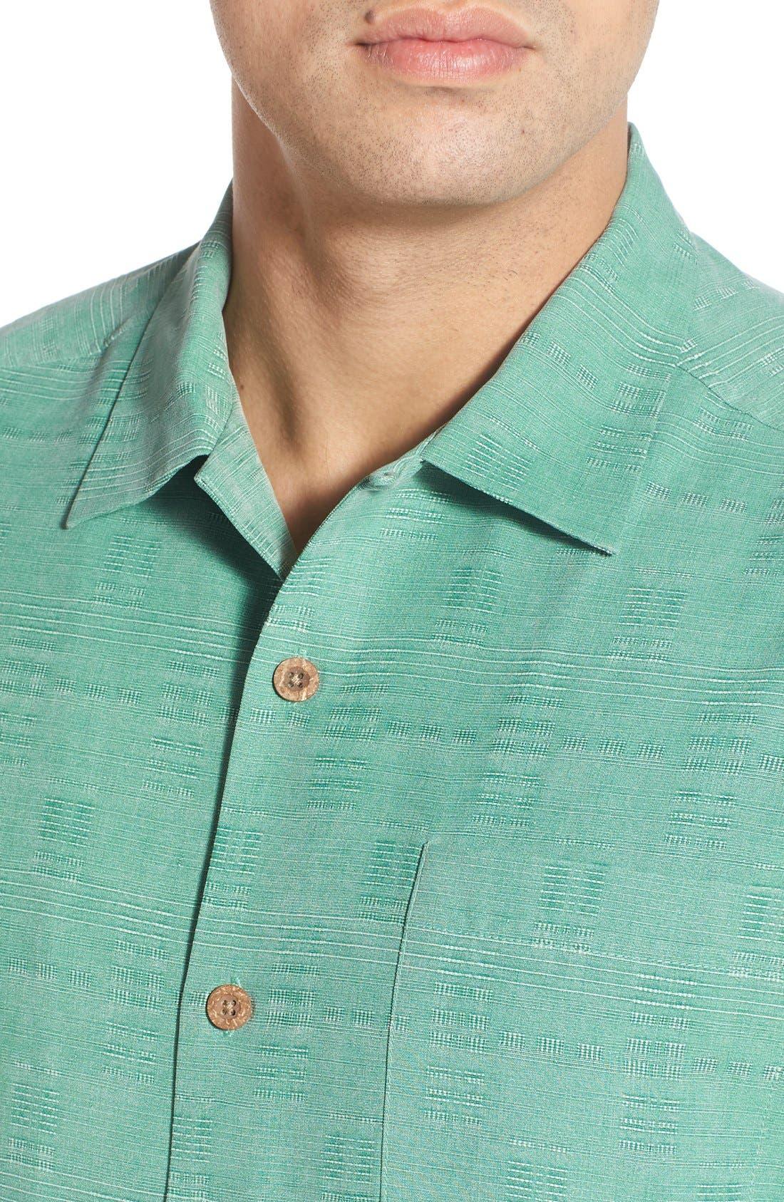 Original Fit Jacquard Silk Camp Shirt,                             Alternate thumbnail 26, color,