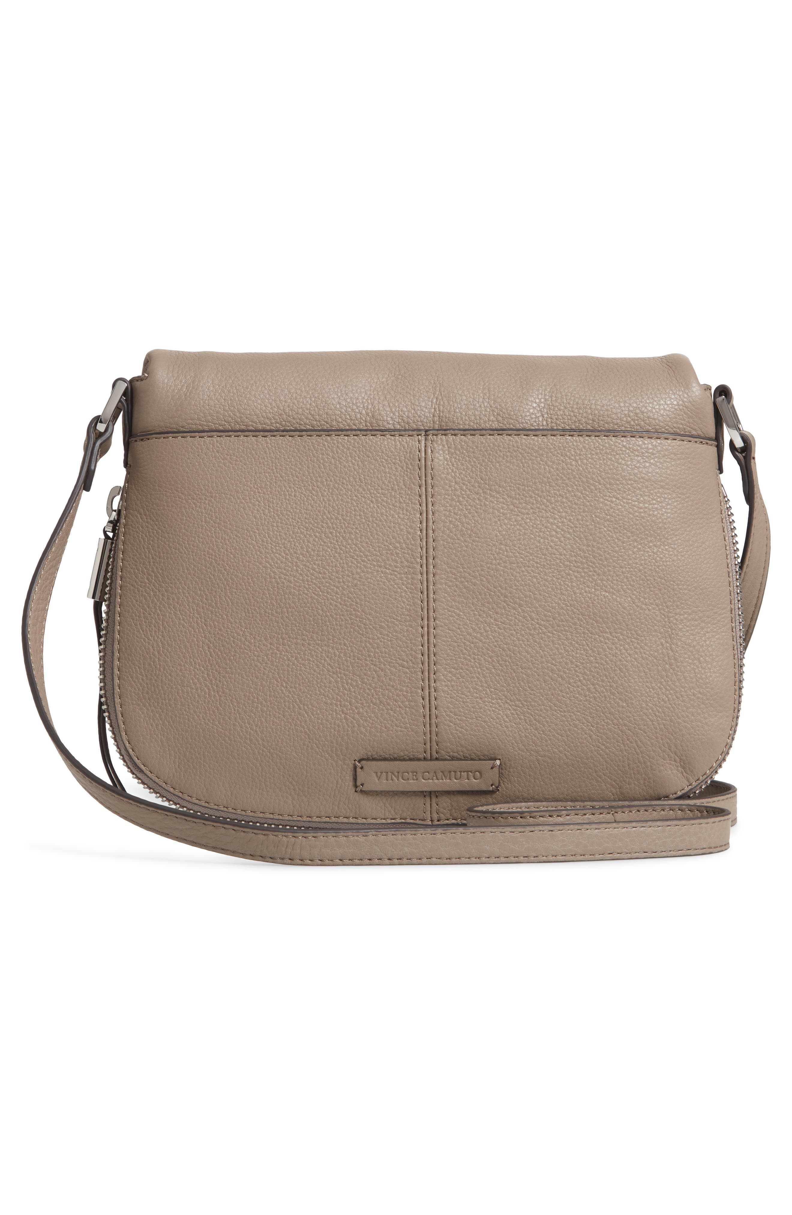 Key Leather Crossbody Bag,                             Alternate thumbnail 3, color,                             TRANQUILITY
