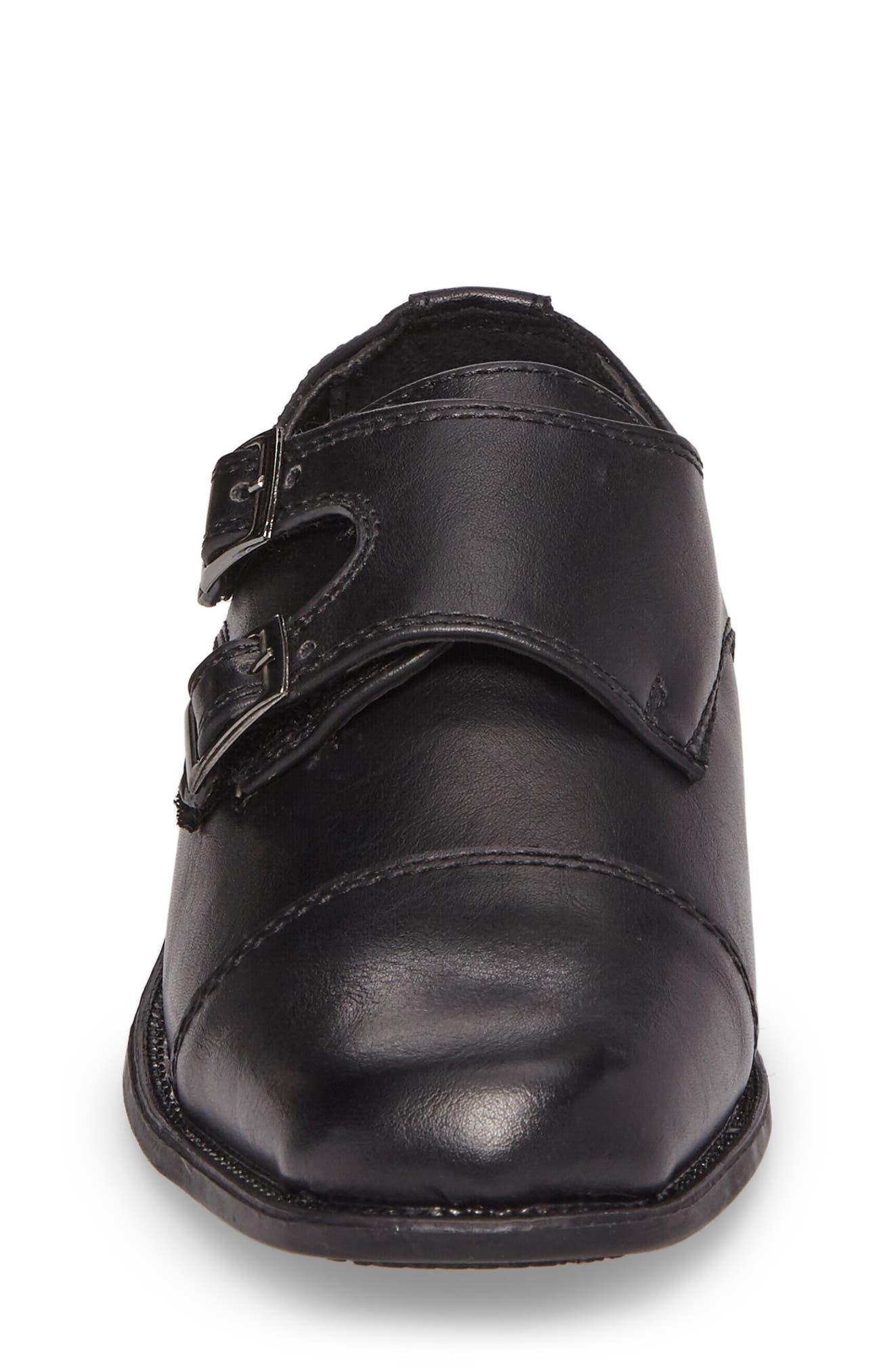 Double Monk Strap Shoe,                             Alternate thumbnail 4, color,                             006