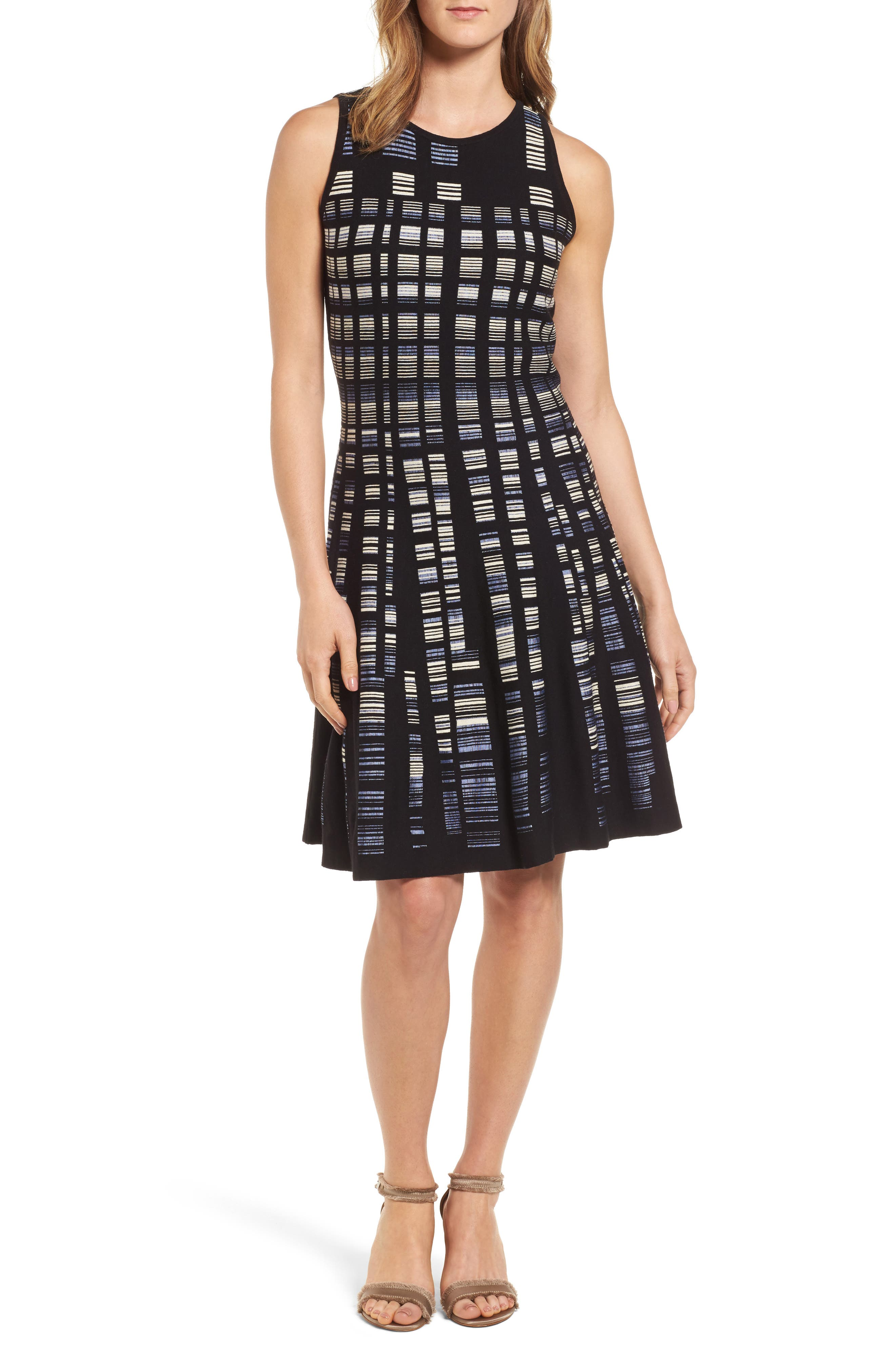 Crystal Cove Twirl Fit & Flare Dress,                         Main,                         color, 009