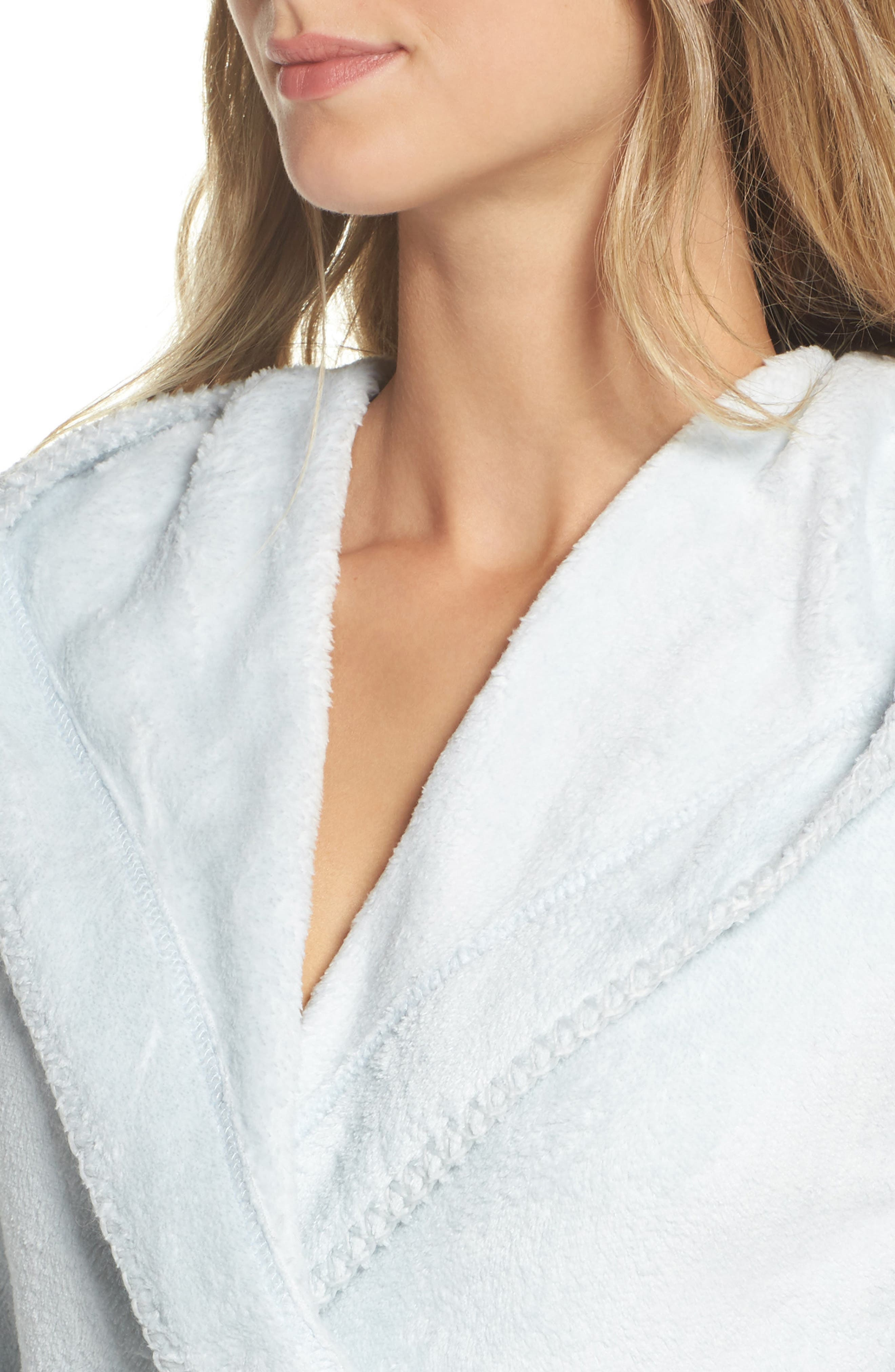 Starry Night Plush Short Robe,                             Alternate thumbnail 14, color,