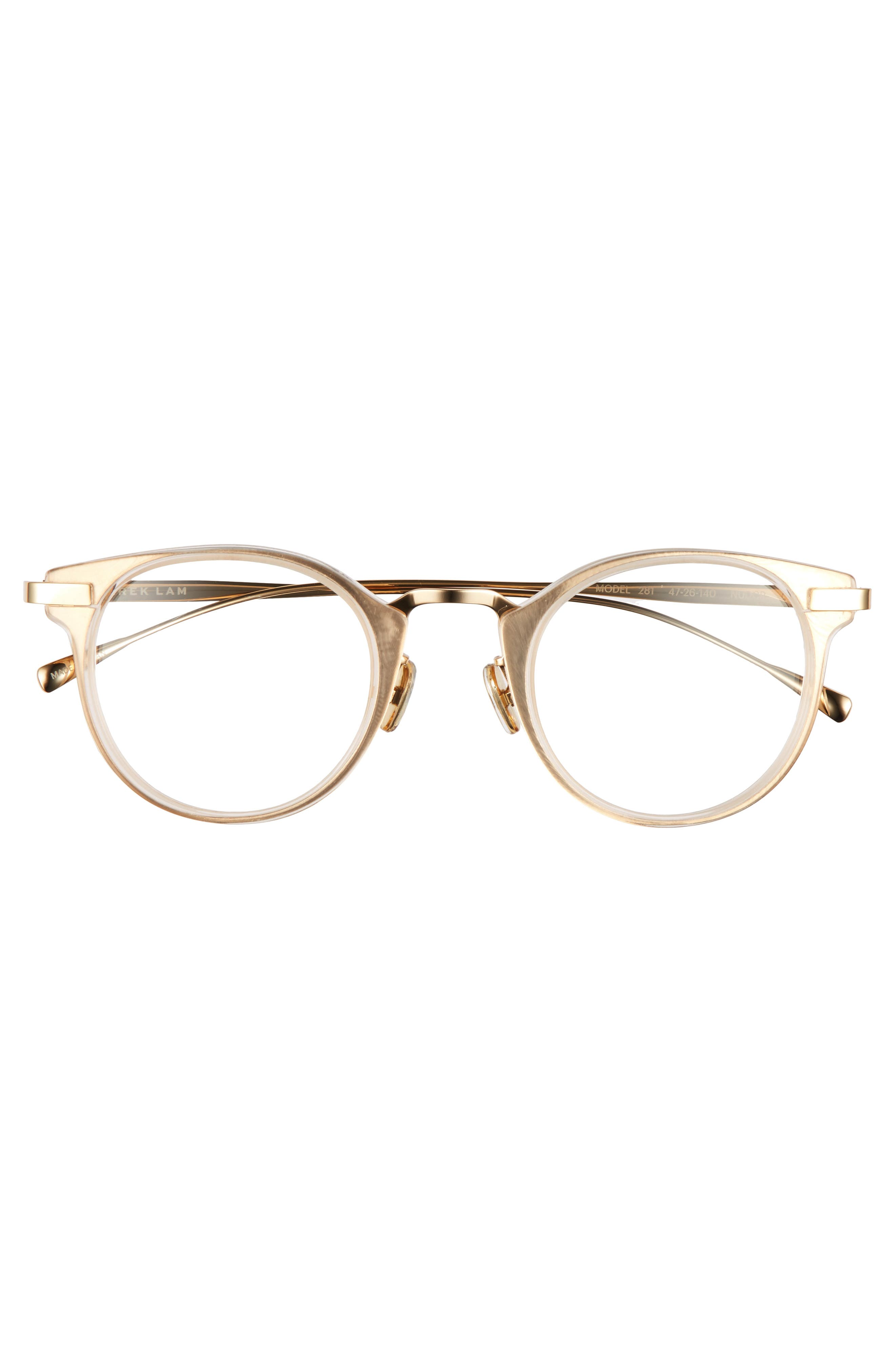 47mm Optical Glasses,                             Alternate thumbnail 3, color,                             NUDE CRYSTAL