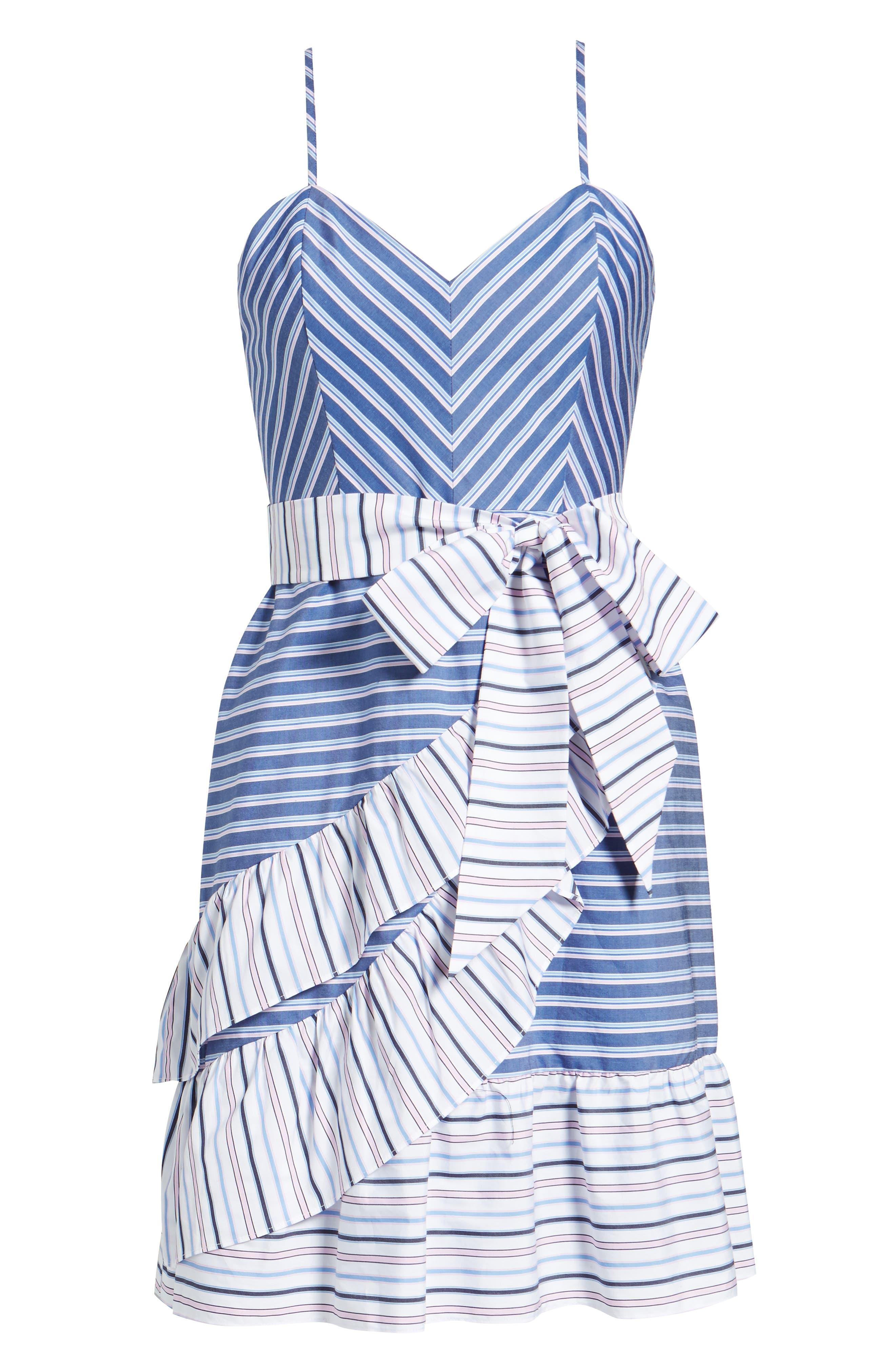 Brooklyn Ruffle Dress,                             Alternate thumbnail 6, color,                             400