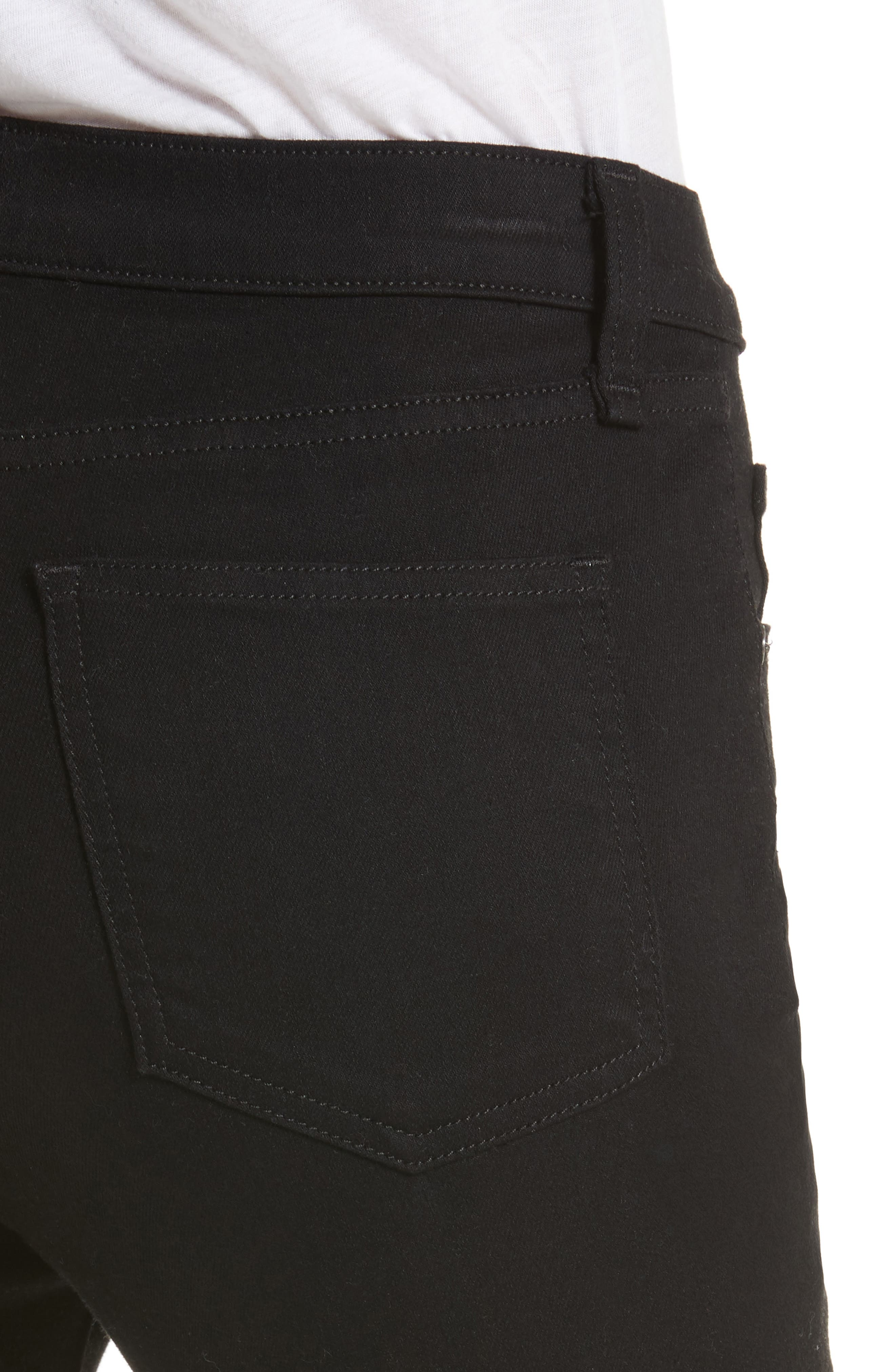 Kate 10 Skinny Jeans,                             Alternate thumbnail 4, color,                             RAVEN