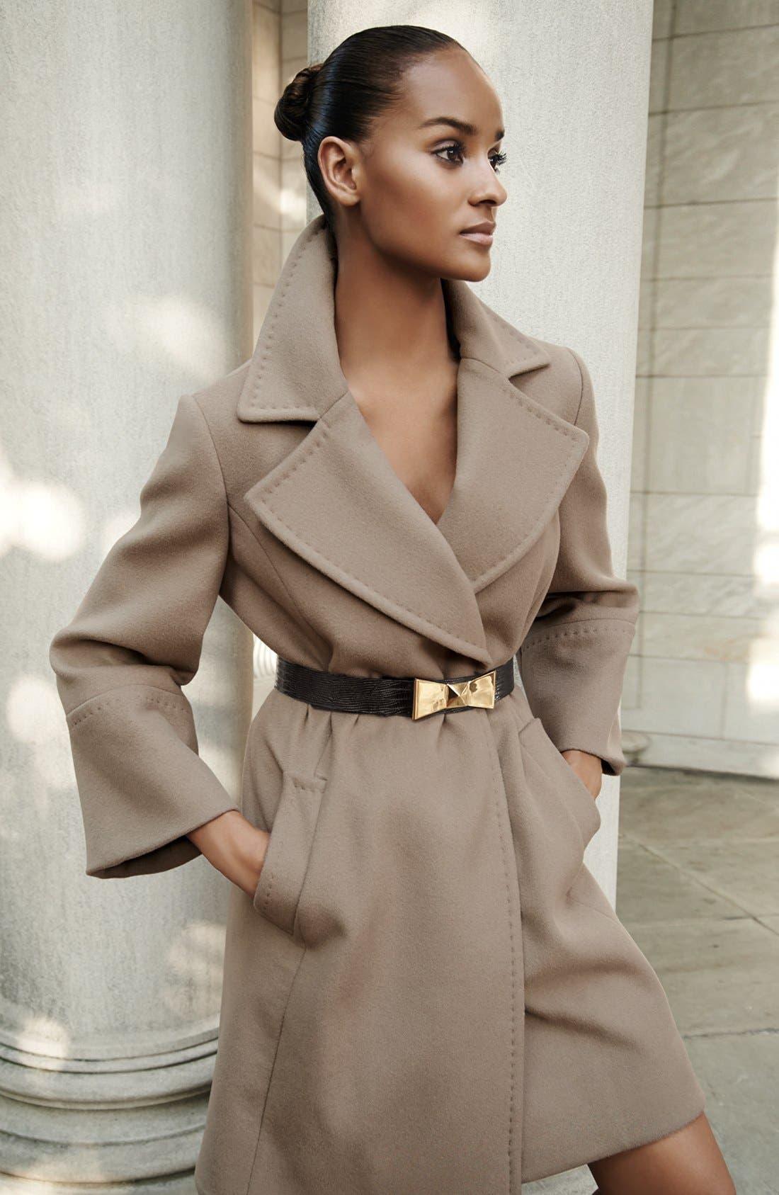 'Chelsea' Wool Blend Wrap Coat,                             Alternate thumbnail 5, color,                             263