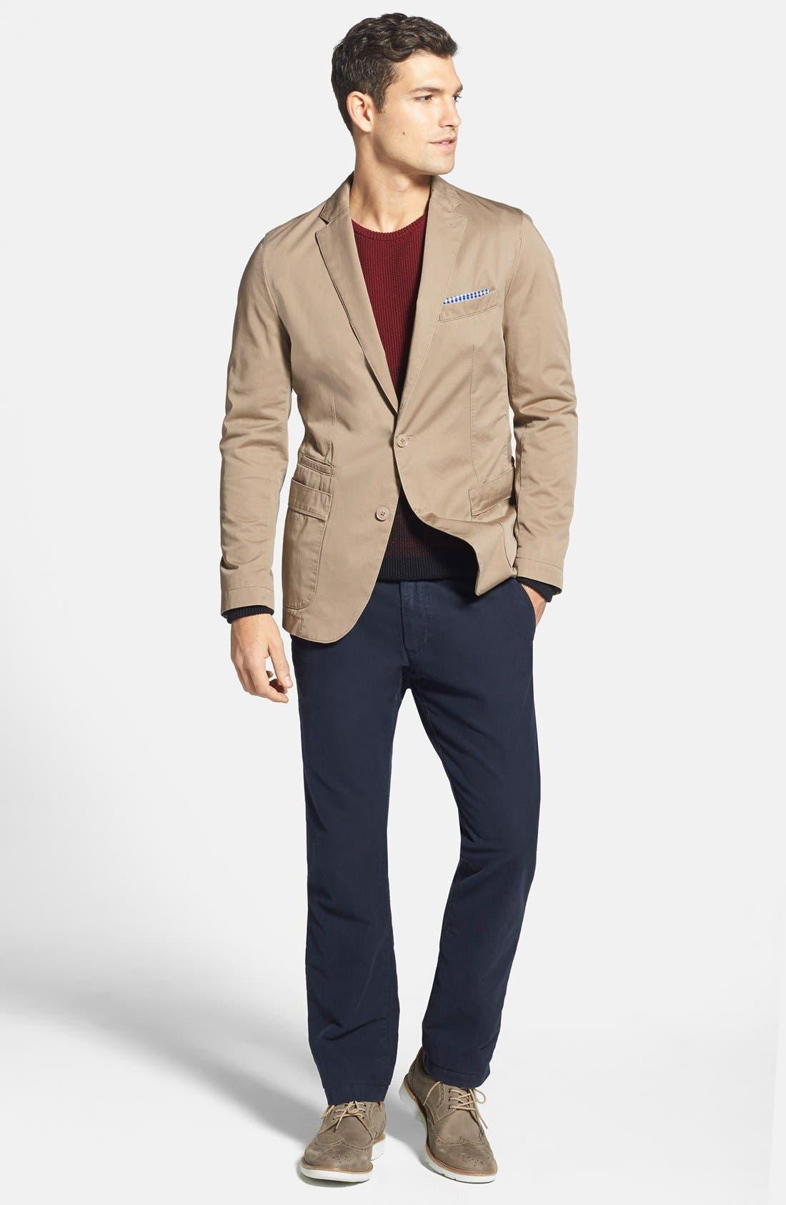 BOSS,                             'Menvin' Trim Fit Cotton Twill Sport Coat,                             Alternate thumbnail 4, color,                             262