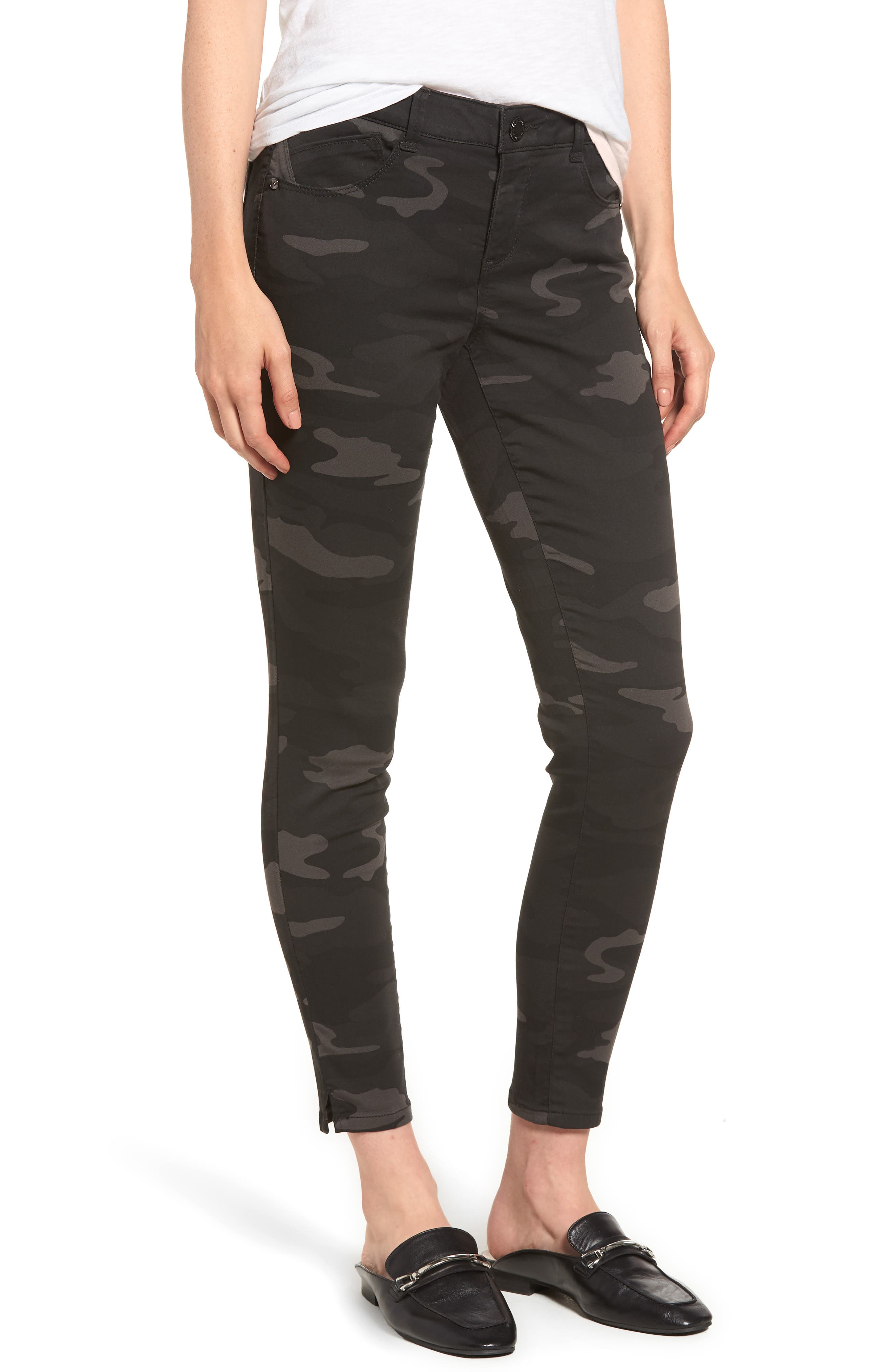 Ab-solution Ankle Skinny Jeans,                         Main,                         color, BLACK