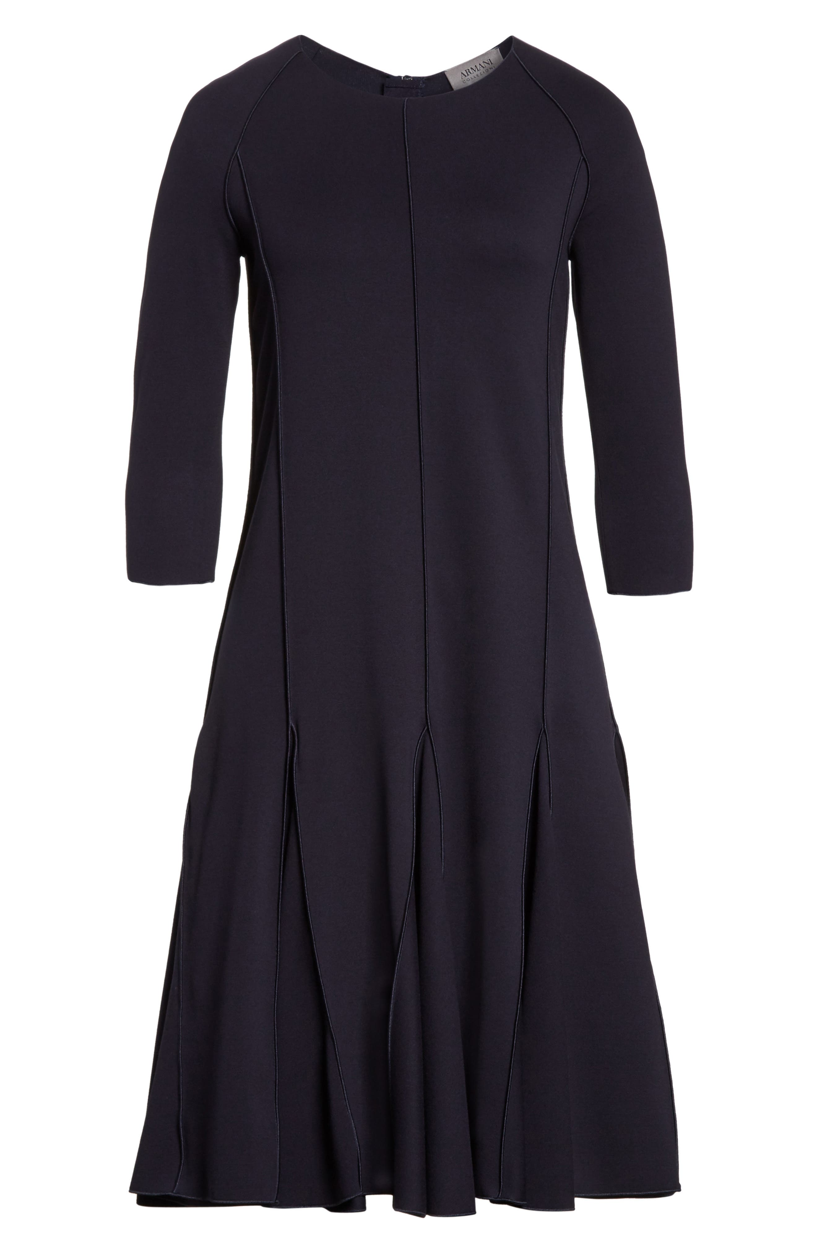 Seamed Jersey Fit & Flare Dress,                             Alternate thumbnail 6, color,                             414