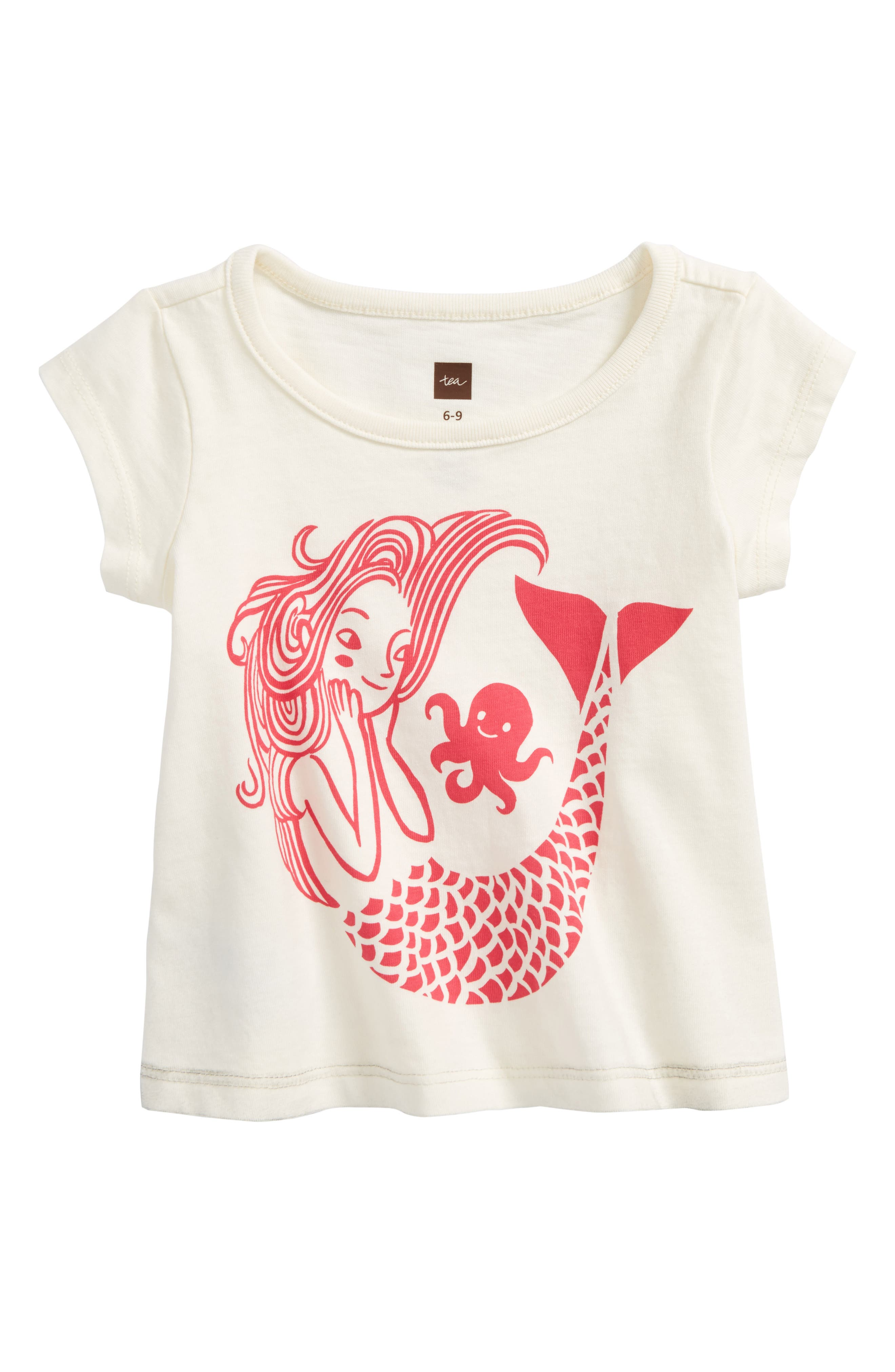 Mermaid Graphic Tee,                         Main,                         color, 103