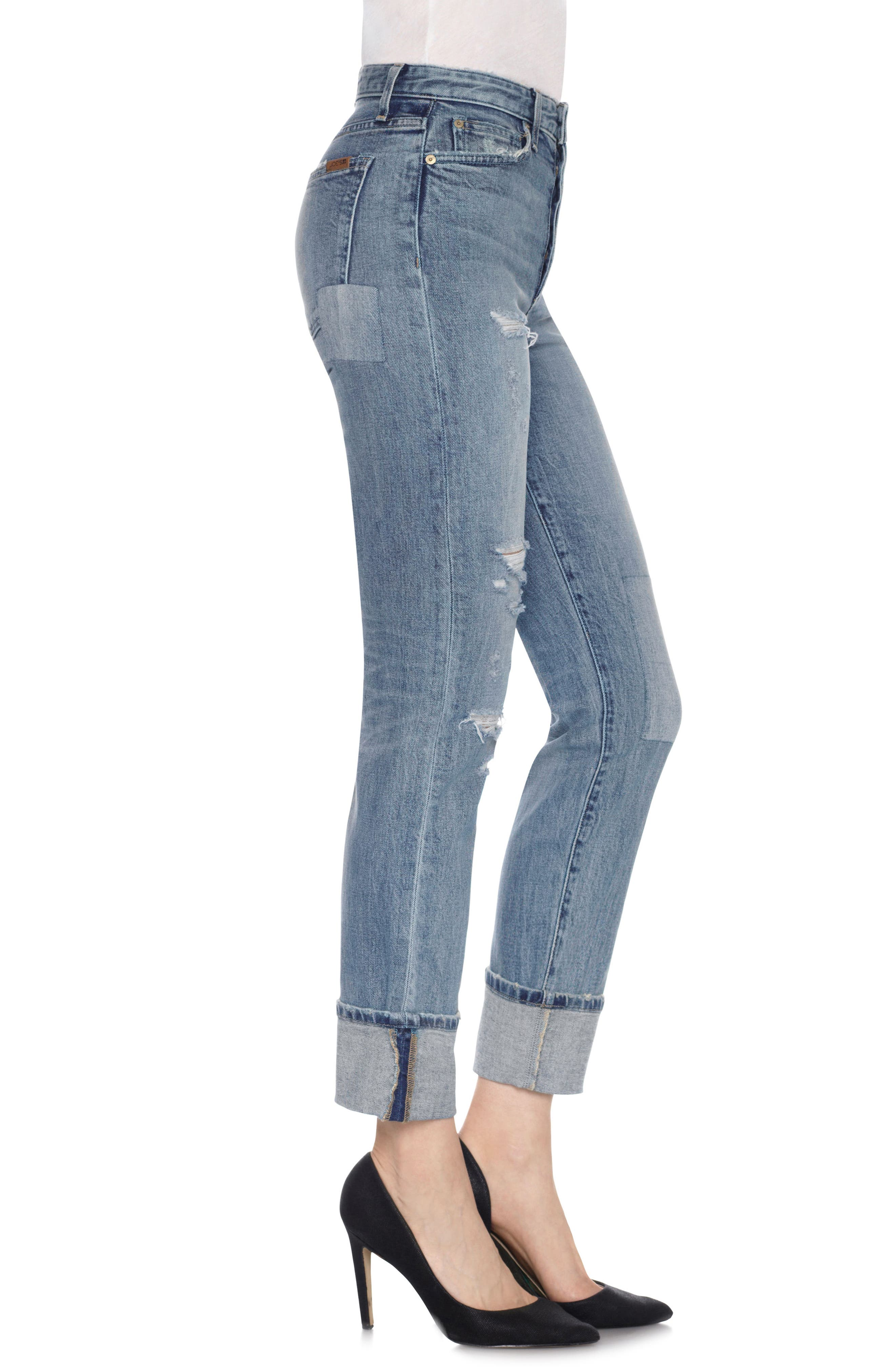 Taylor Hill x Joe's Debbie Cuff Straight Leg Jeans,                             Alternate thumbnail 3, color,                             430