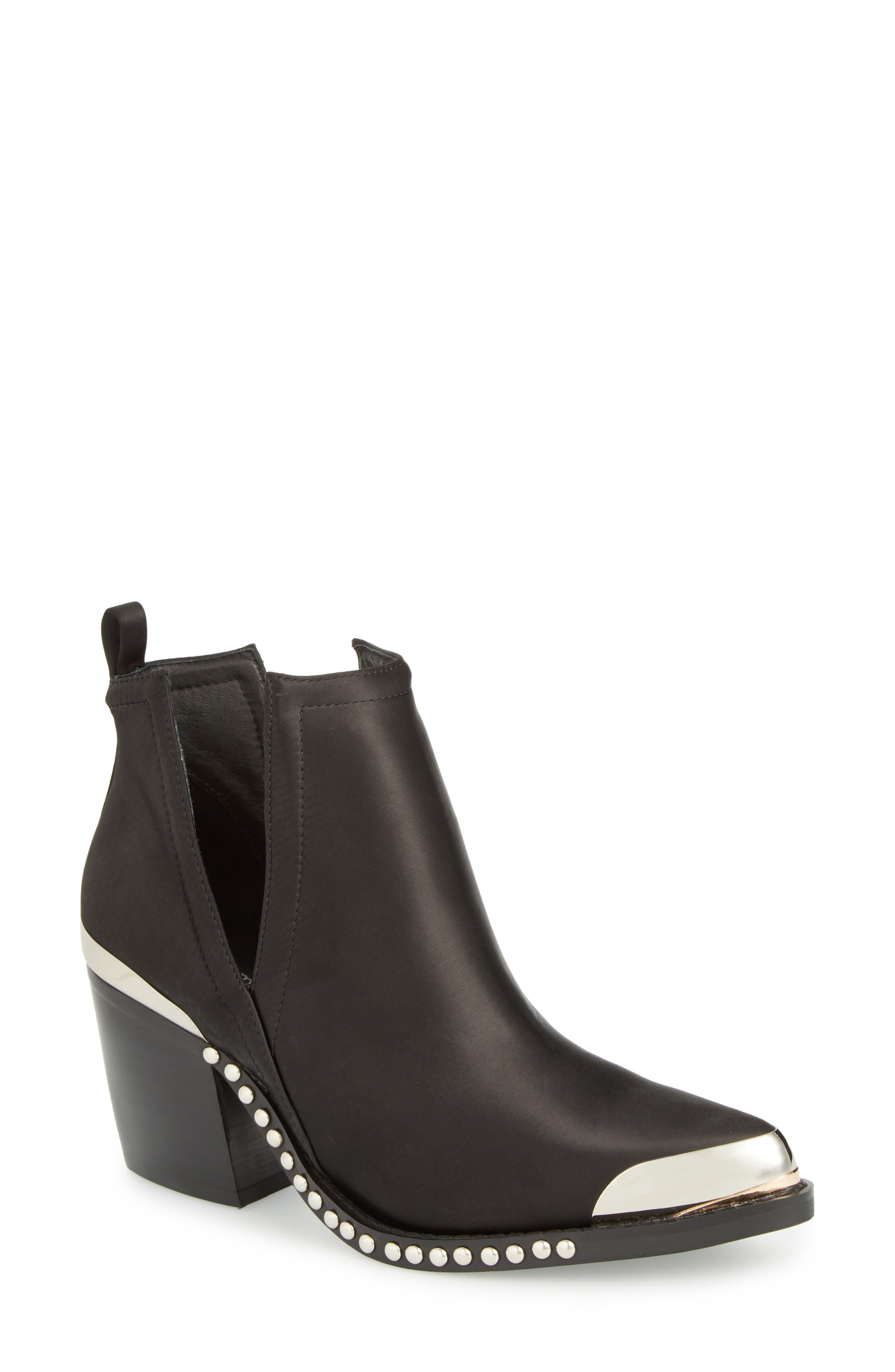 Optimum Pointy Toe Bootie,                             Main thumbnail 1, color,                             001