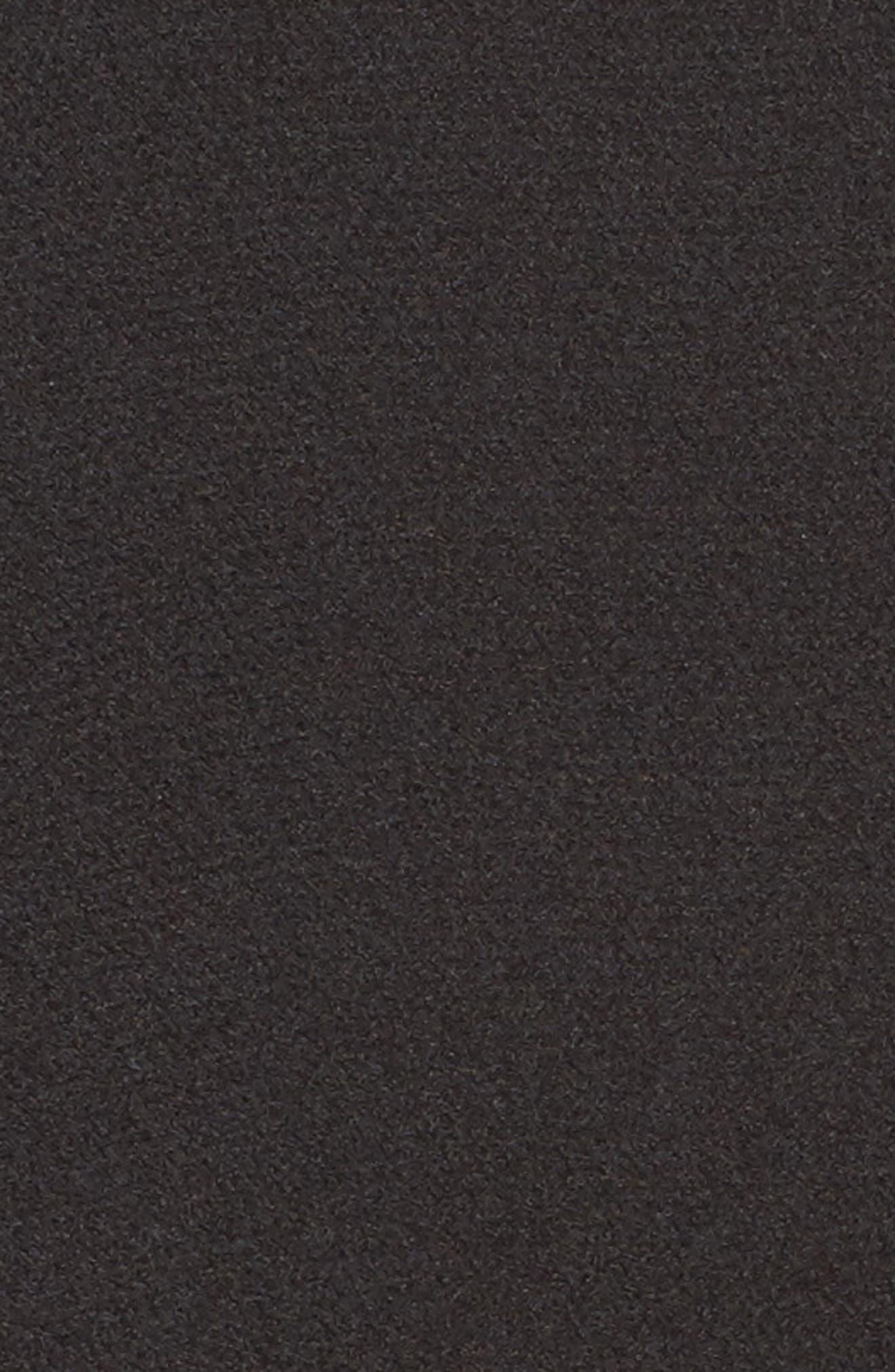 Ruffle Sleeve Satin Top,                             Alternate thumbnail 5, color,                             001