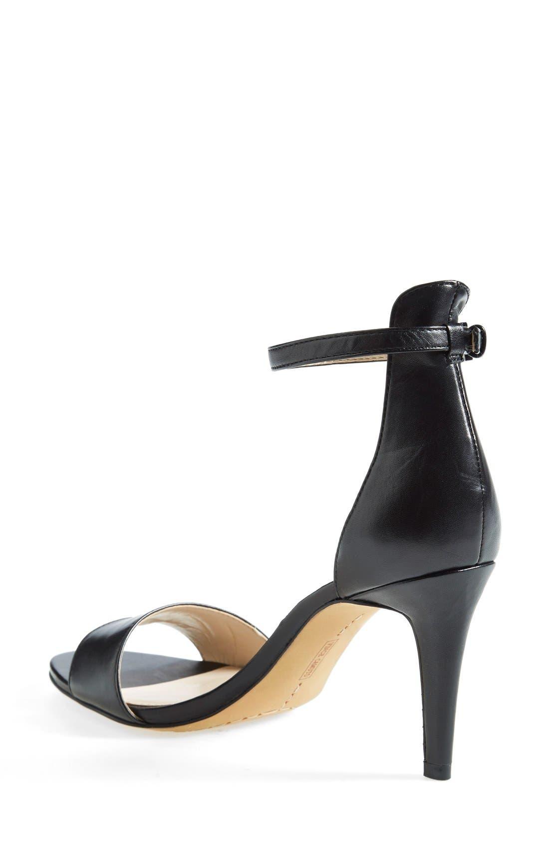'Court' Ankle Strap Sandal,                             Alternate thumbnail 3, color,                             001