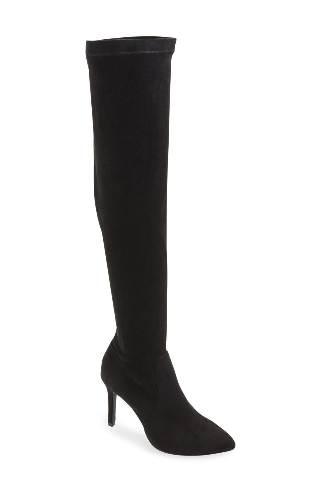 'Jemina' Over the Knee Boot,                             Main thumbnail 1, color,                             001