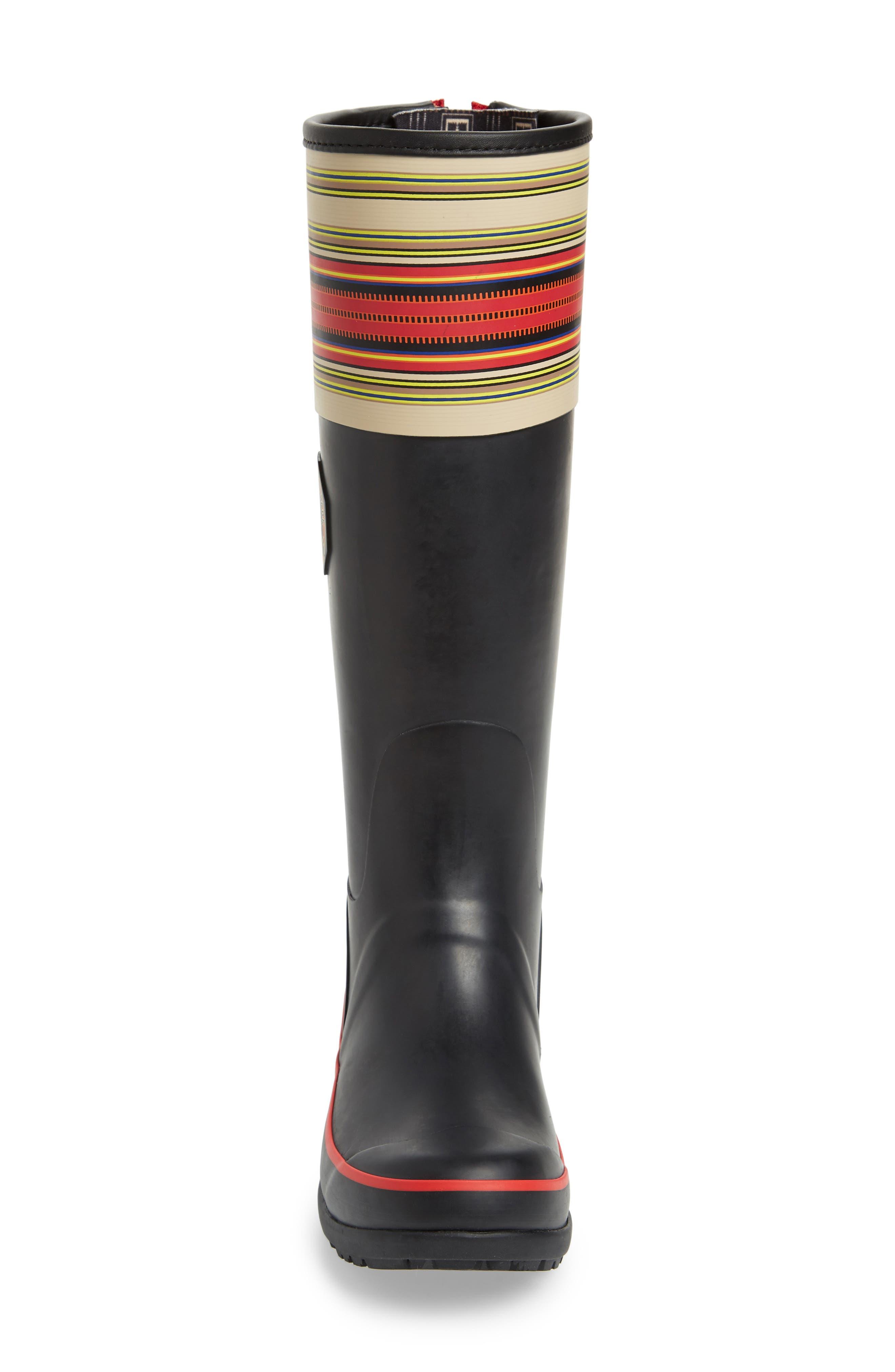 Pendleton Acadia National Park Tall Rain Boot,                             Alternate thumbnail 4, color,                             BLACK
