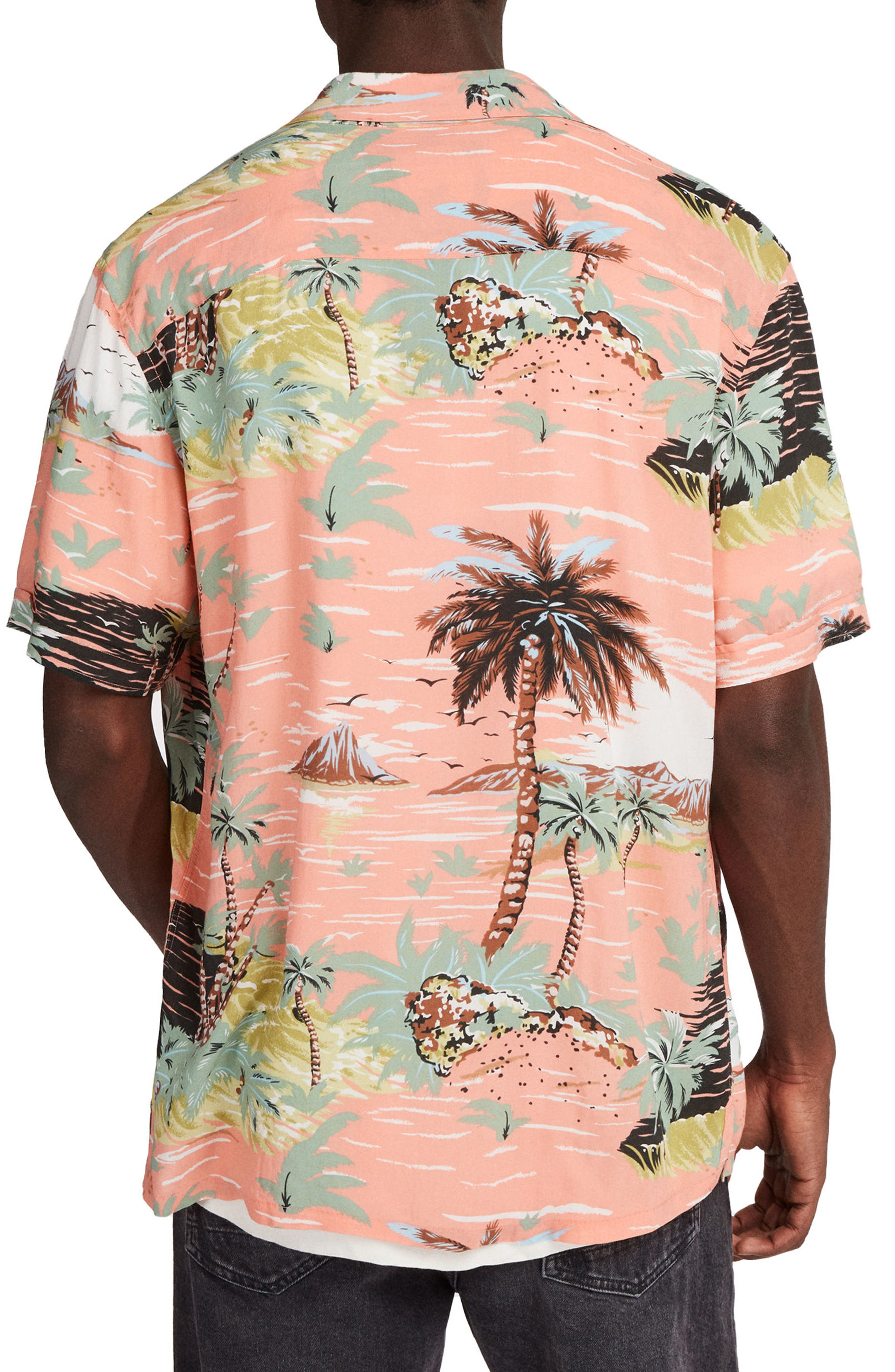 Luau Camp Shirt,                             Alternate thumbnail 2, color,                             PINK
