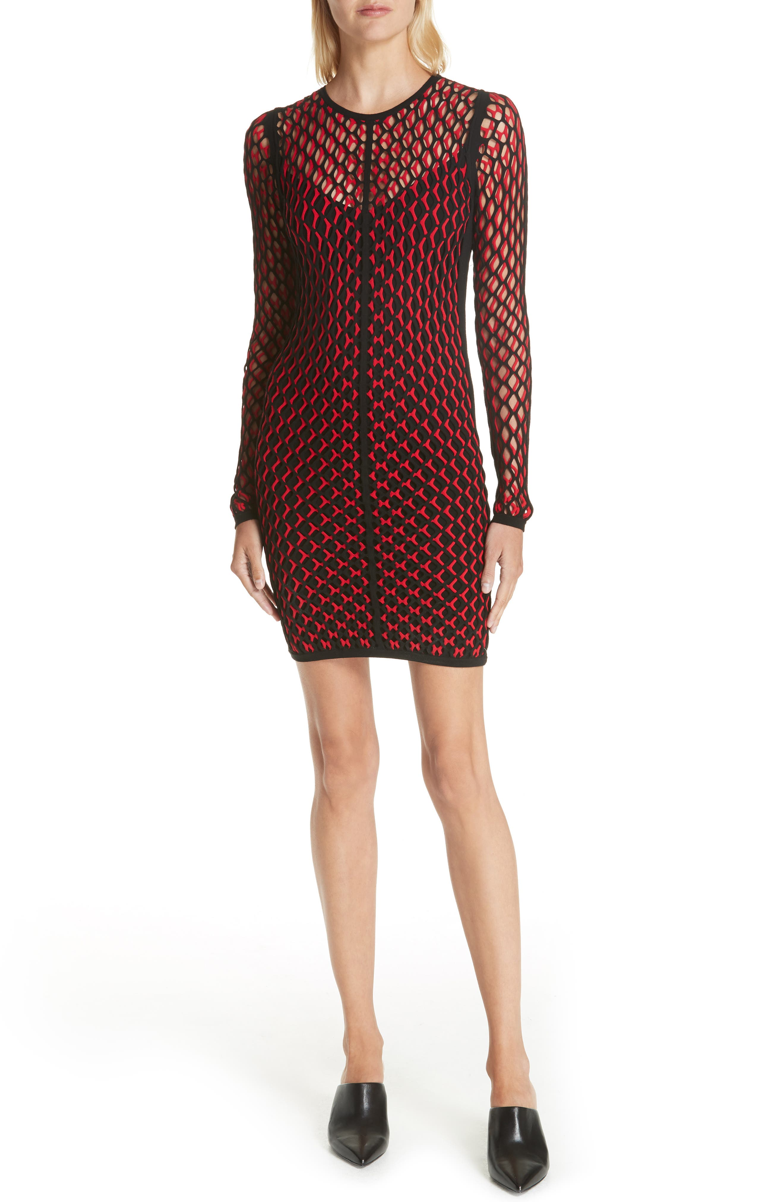 Wes Layered Body-Con Dress,                             Main thumbnail 1, color,                             627