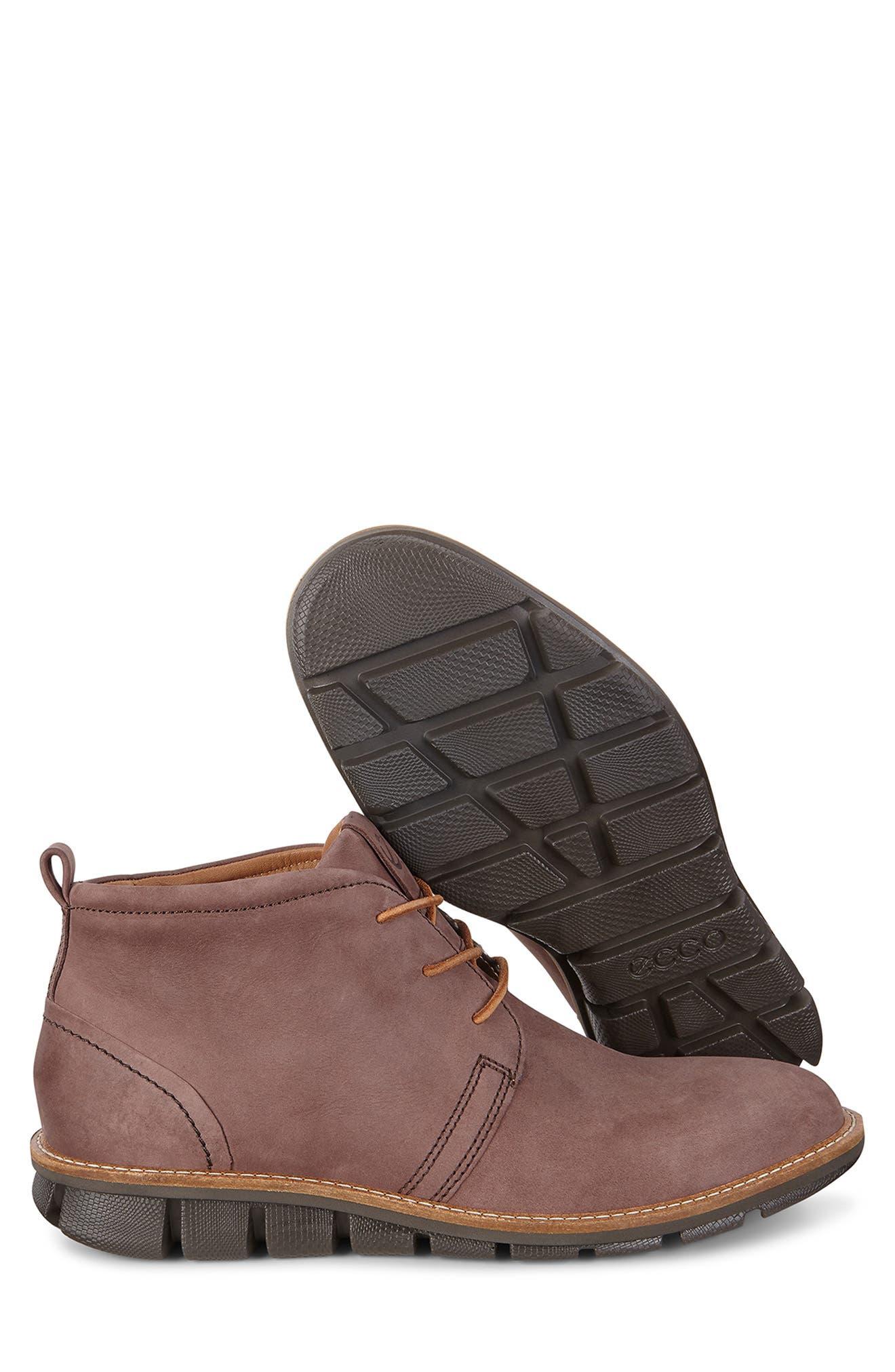 'Jeremy Hybrid' Plain Toe Boot,                             Alternate thumbnail 7, color,                             COFFEE LEATHER