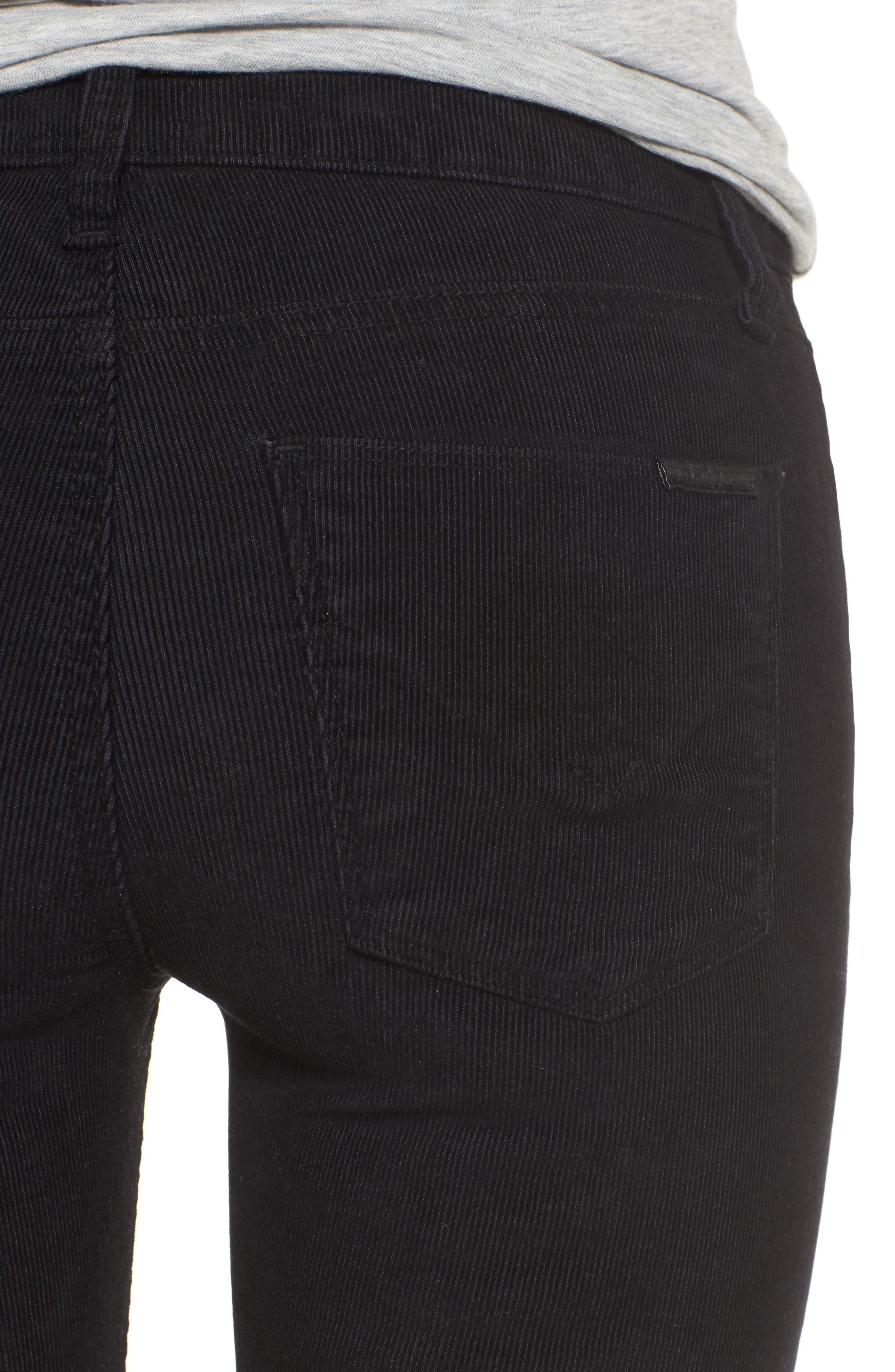 Nico Ankle Super Skinny Corduroy Pants,                             Alternate thumbnail 4, color,                             001