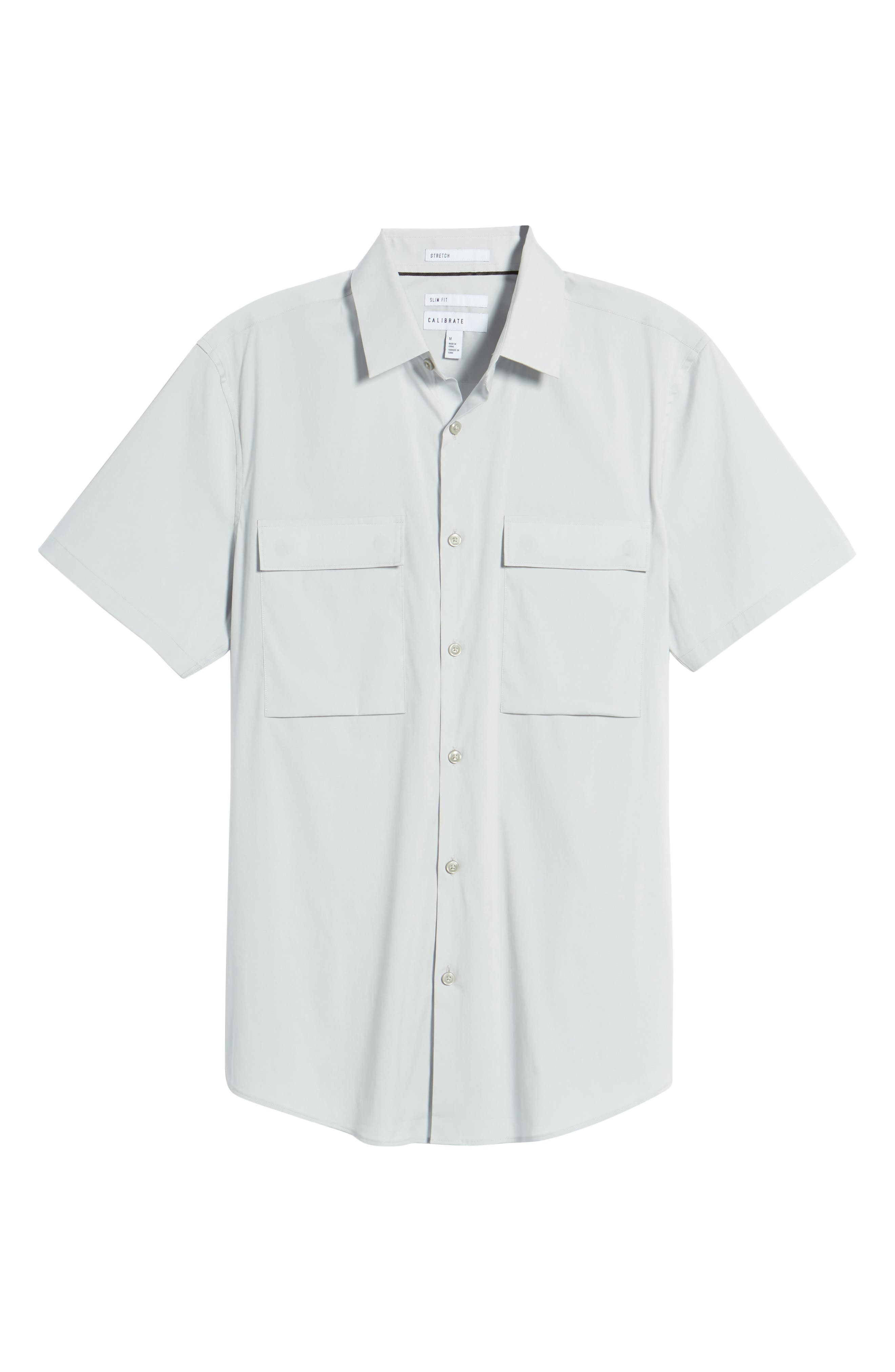 Military Stretch Sport Shirt,                             Alternate thumbnail 6, color,                             050