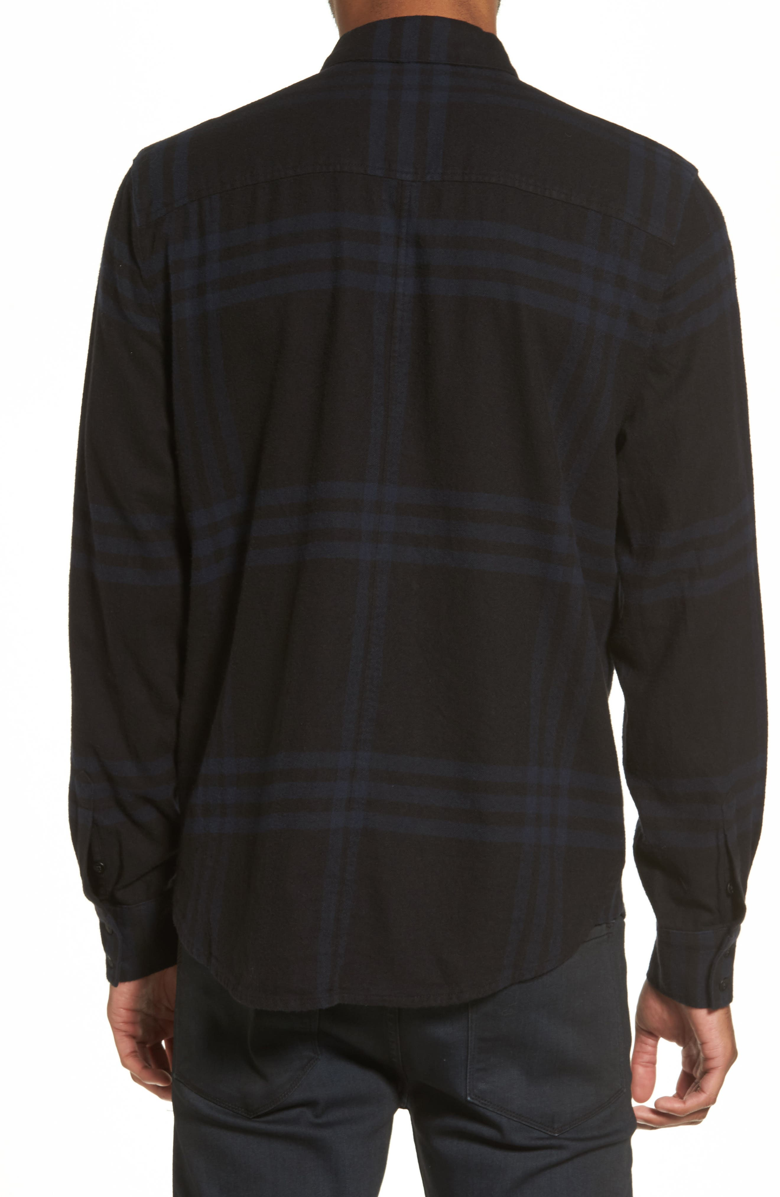 Bellowed Plaid Classic Shirt,                             Alternate thumbnail 4, color,
