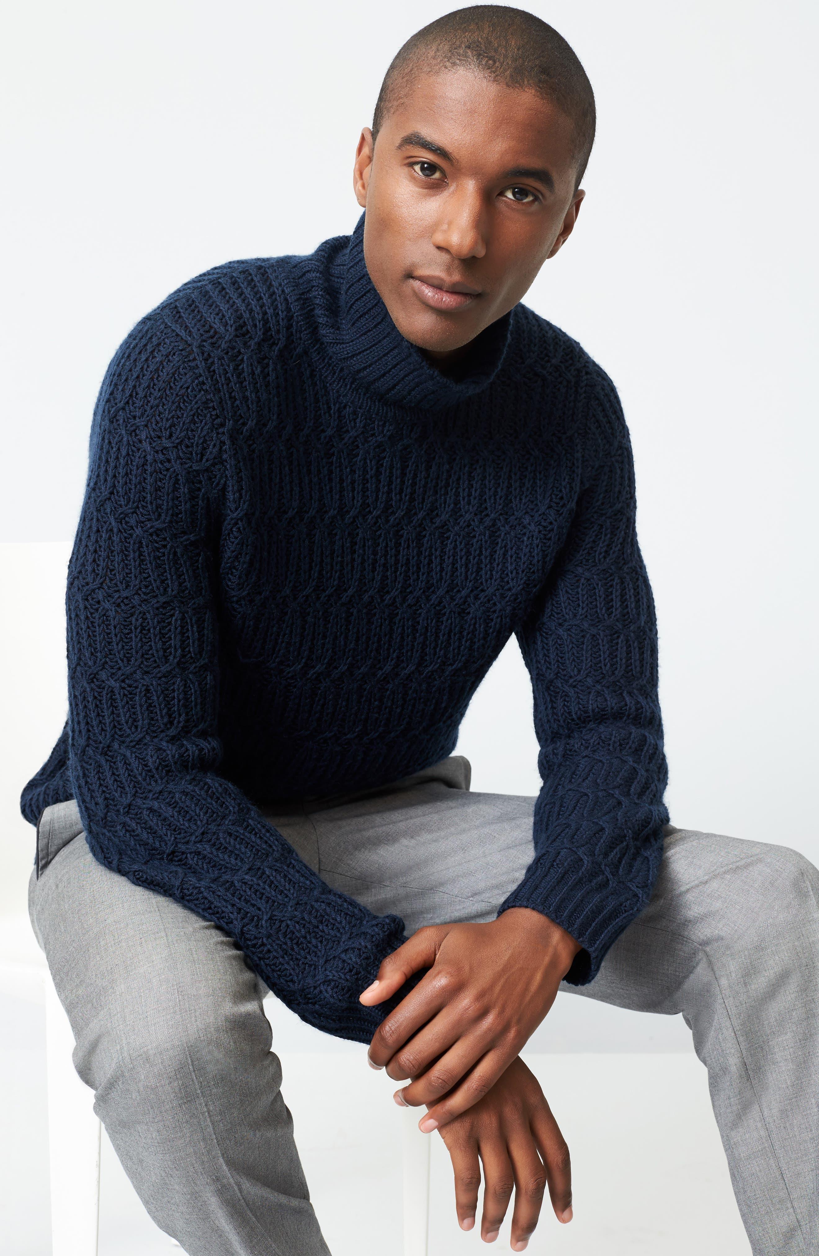 Chunky Turtleneck Sweater,                             Alternate thumbnail 7, color,                             410