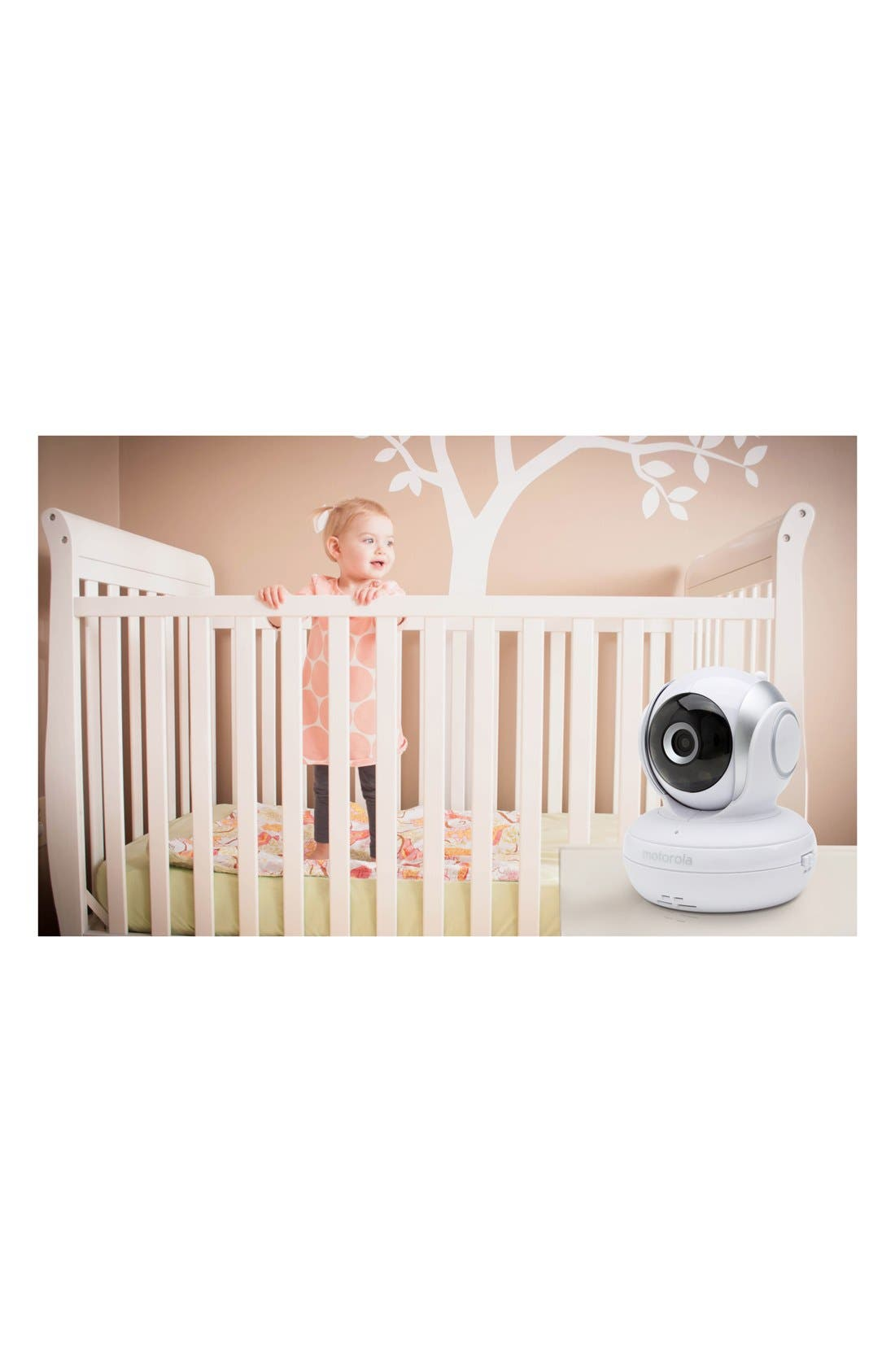 MBP 33S Wireless Digital Video Baby Monitor,                             Alternate thumbnail 4, color,                             WHITE/ SILVER TRIM
