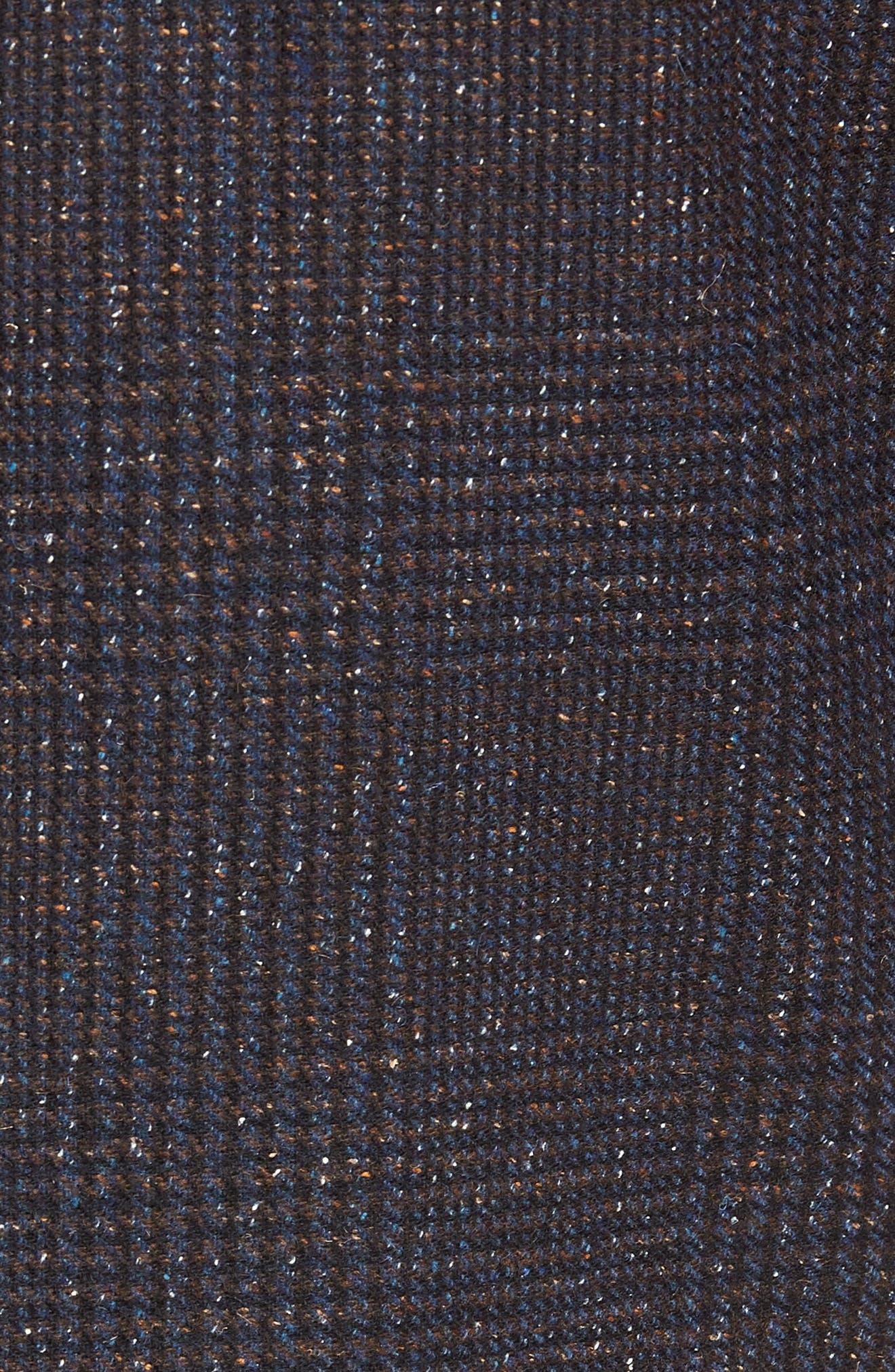 Regular Fit Wool & Silk Blend Blazer,                             Alternate thumbnail 6, color,                             BROWN