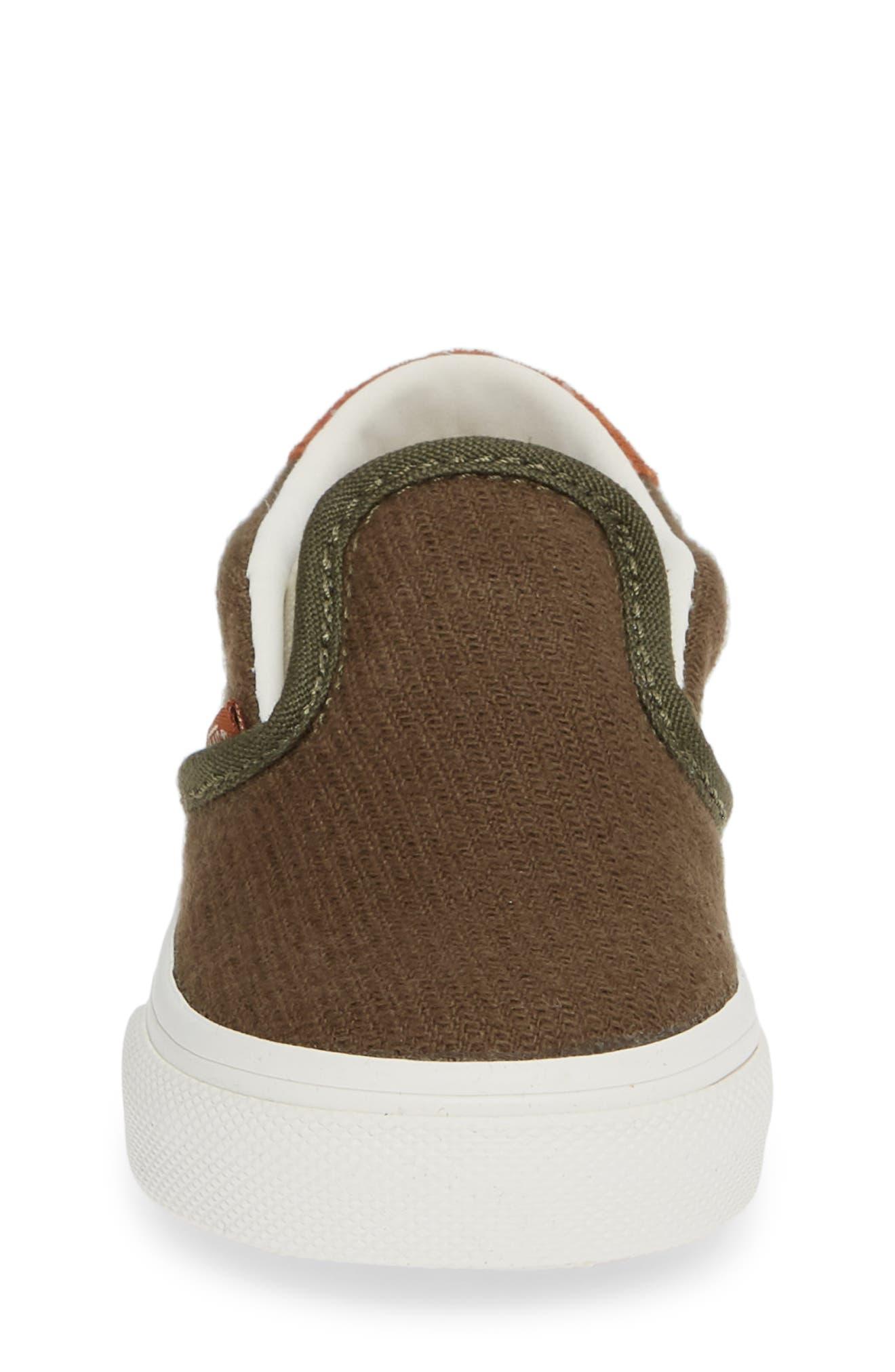 59 Slip-On Sneaker,                             Alternate thumbnail 4, color,                             FLANNEL DUSTY OLIVE