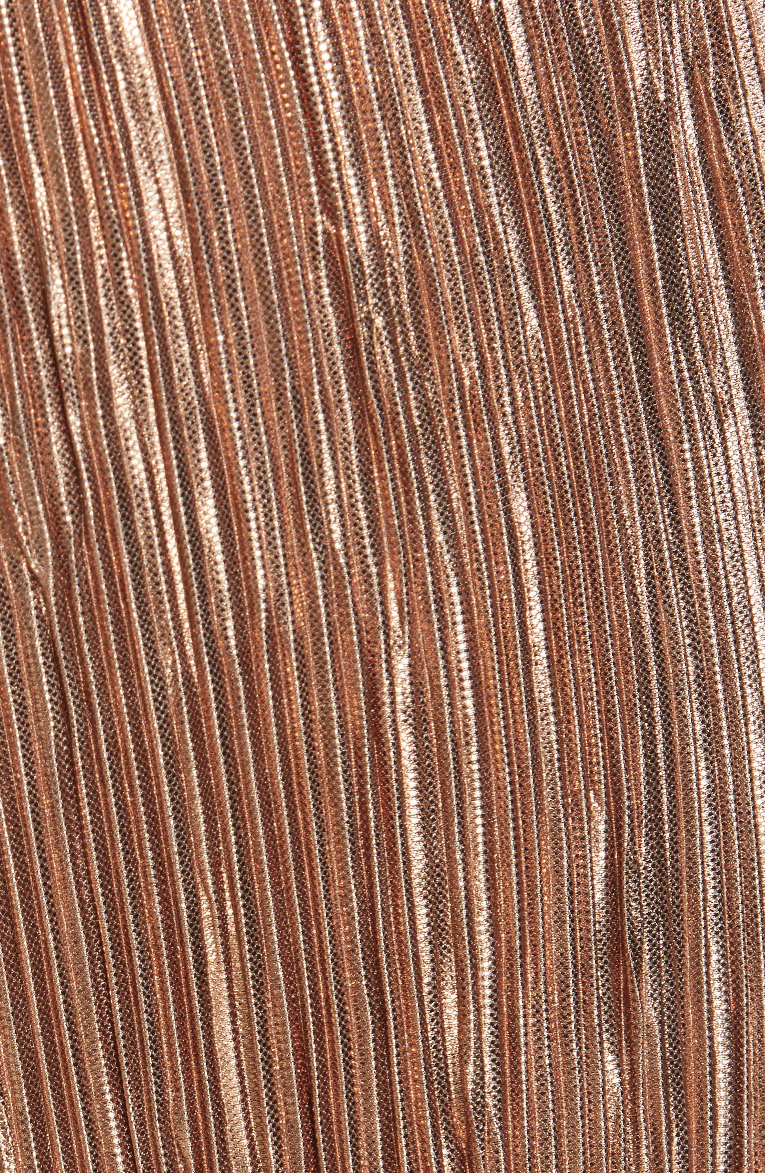 Elba Paperbag Waist Crop Pants,                             Alternate thumbnail 5, color,                             ROSE GOLD