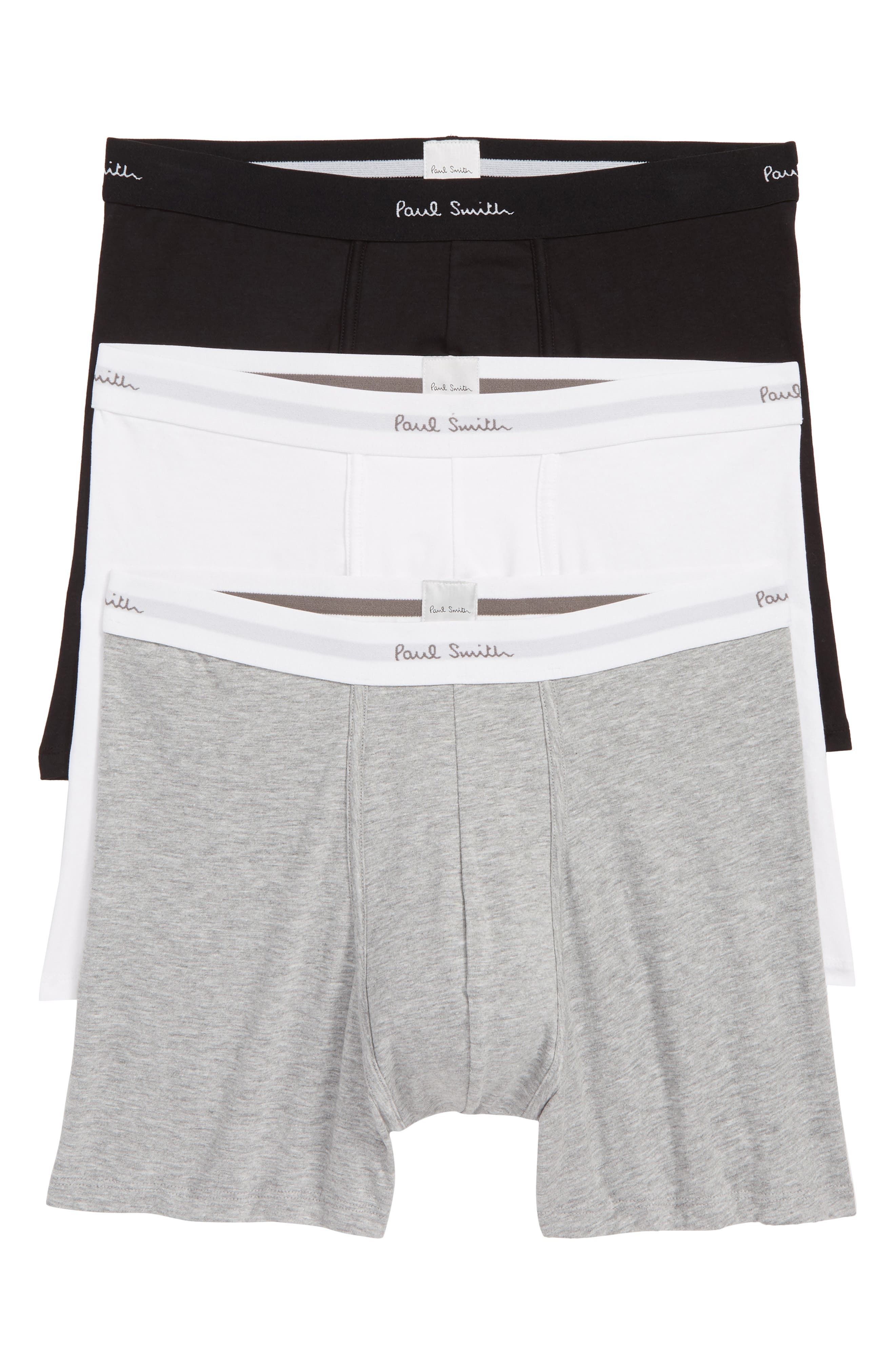 PAUL SMITH 3-Pack Trunks, Main, color, BLACK/ WHITE/ GREY