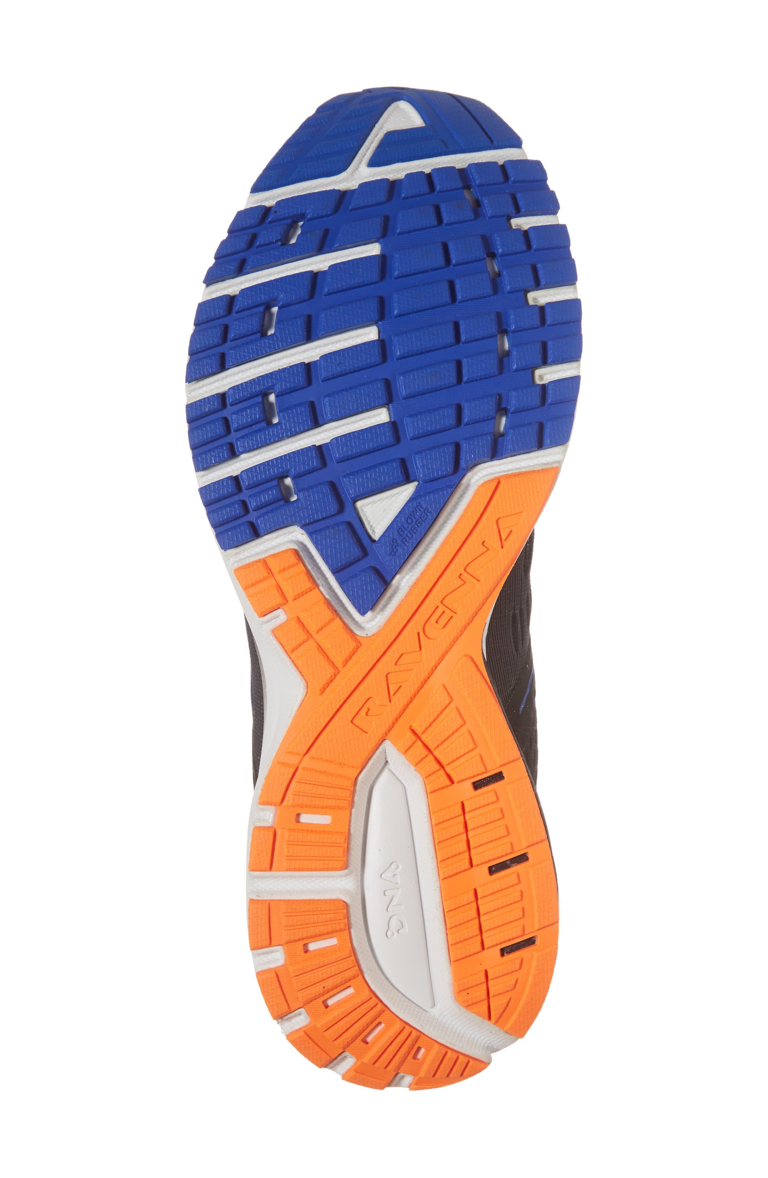 Ravenna 9 Running Shoe,                             Alternate thumbnail 6, color,                             EBONY/ BLUE/ ORANGE