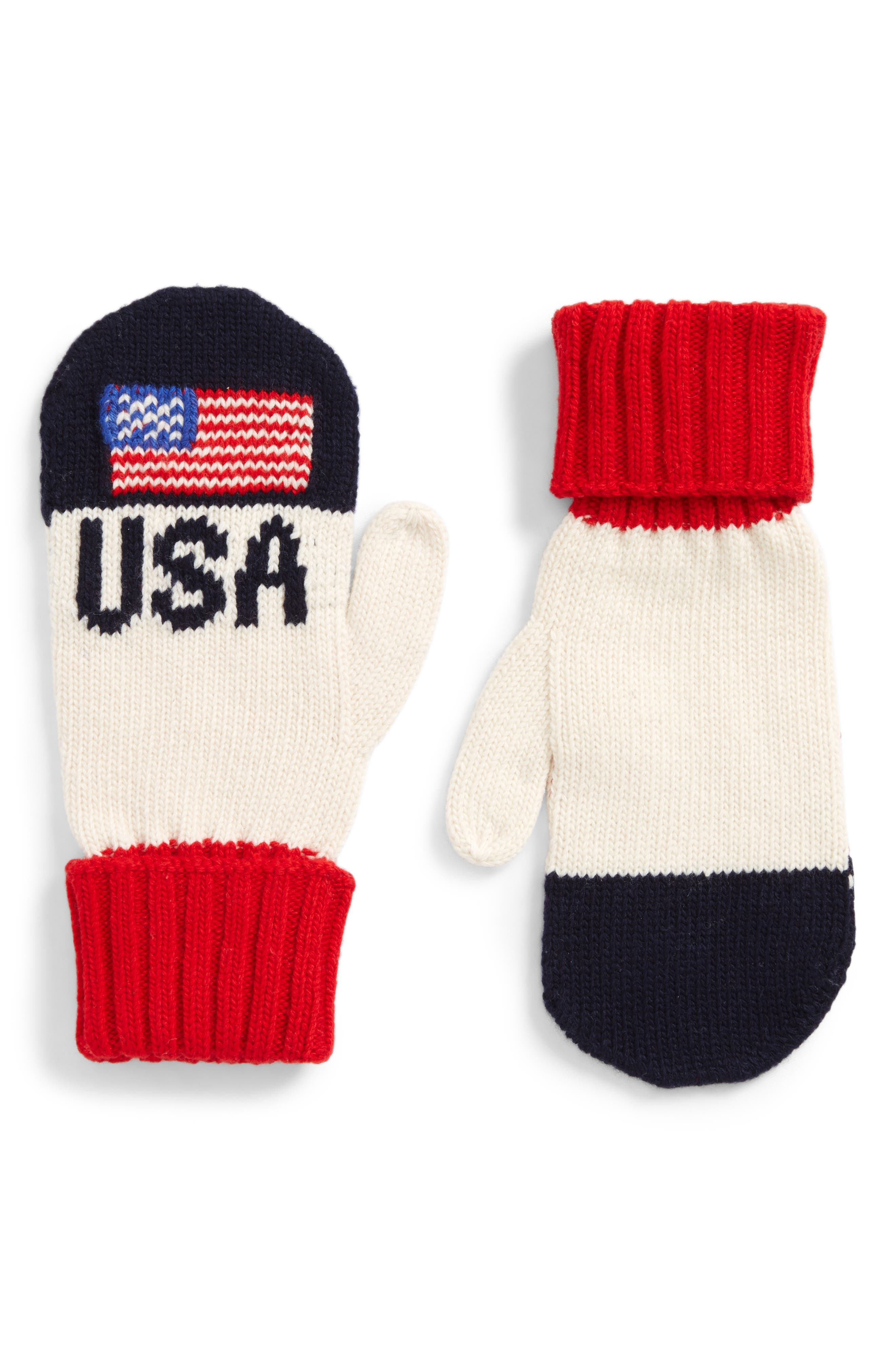 Colorblocked Flag Mittens,                             Alternate thumbnail 2, color,                             411