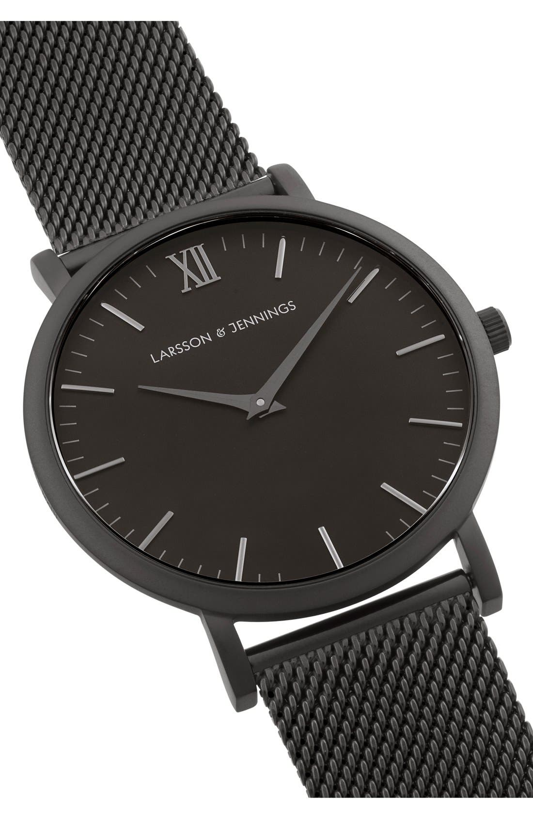 Lugano Mesh Strap Watch, 40mm,                             Alternate thumbnail 5, color,                             001