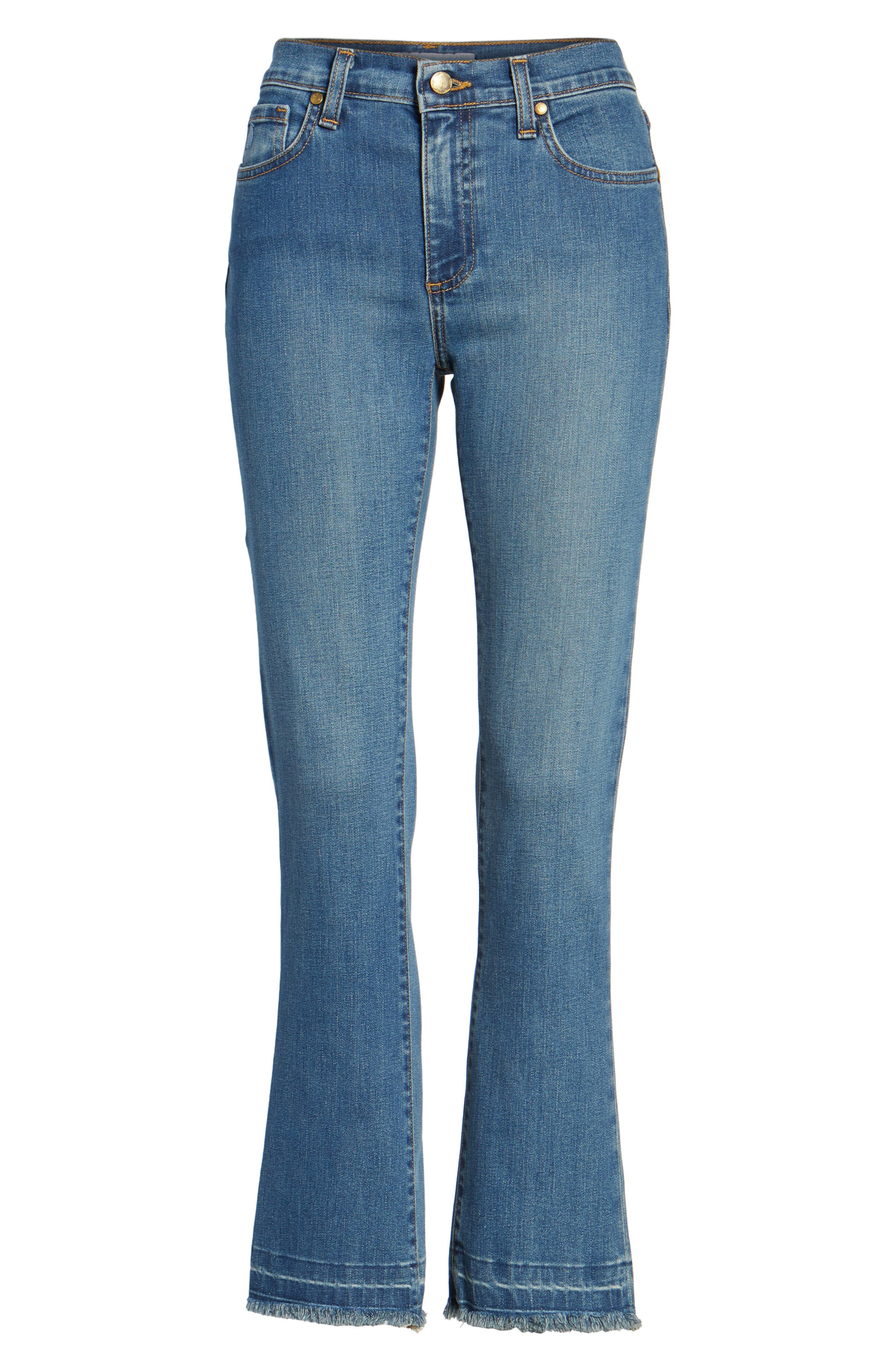 Crop Flare Jeans,                             Alternate thumbnail 6, color,                             420