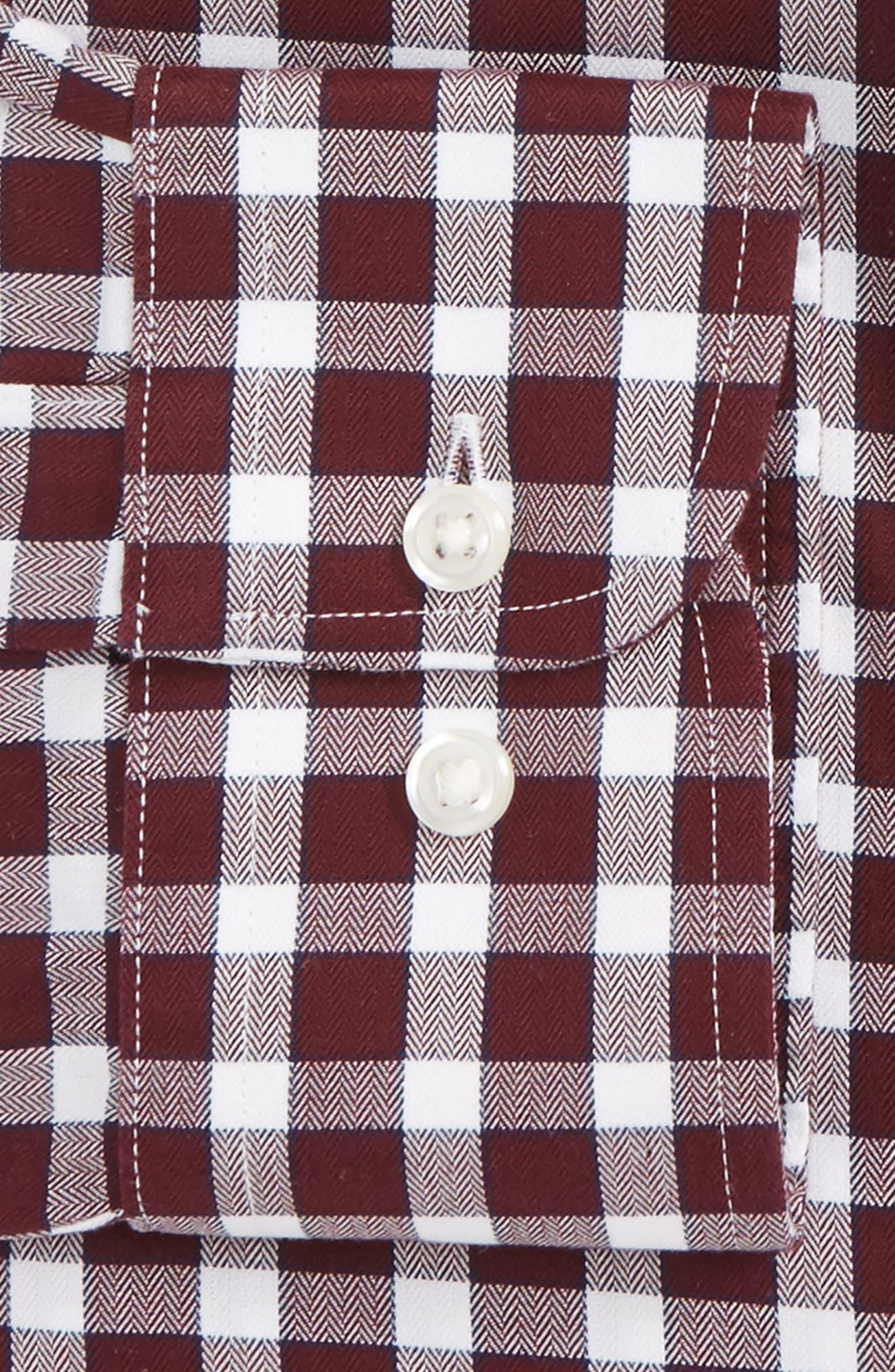 Smartcare<sup>™</sup> Trim Fit Check Dress Shirt,                             Alternate thumbnail 8, color,